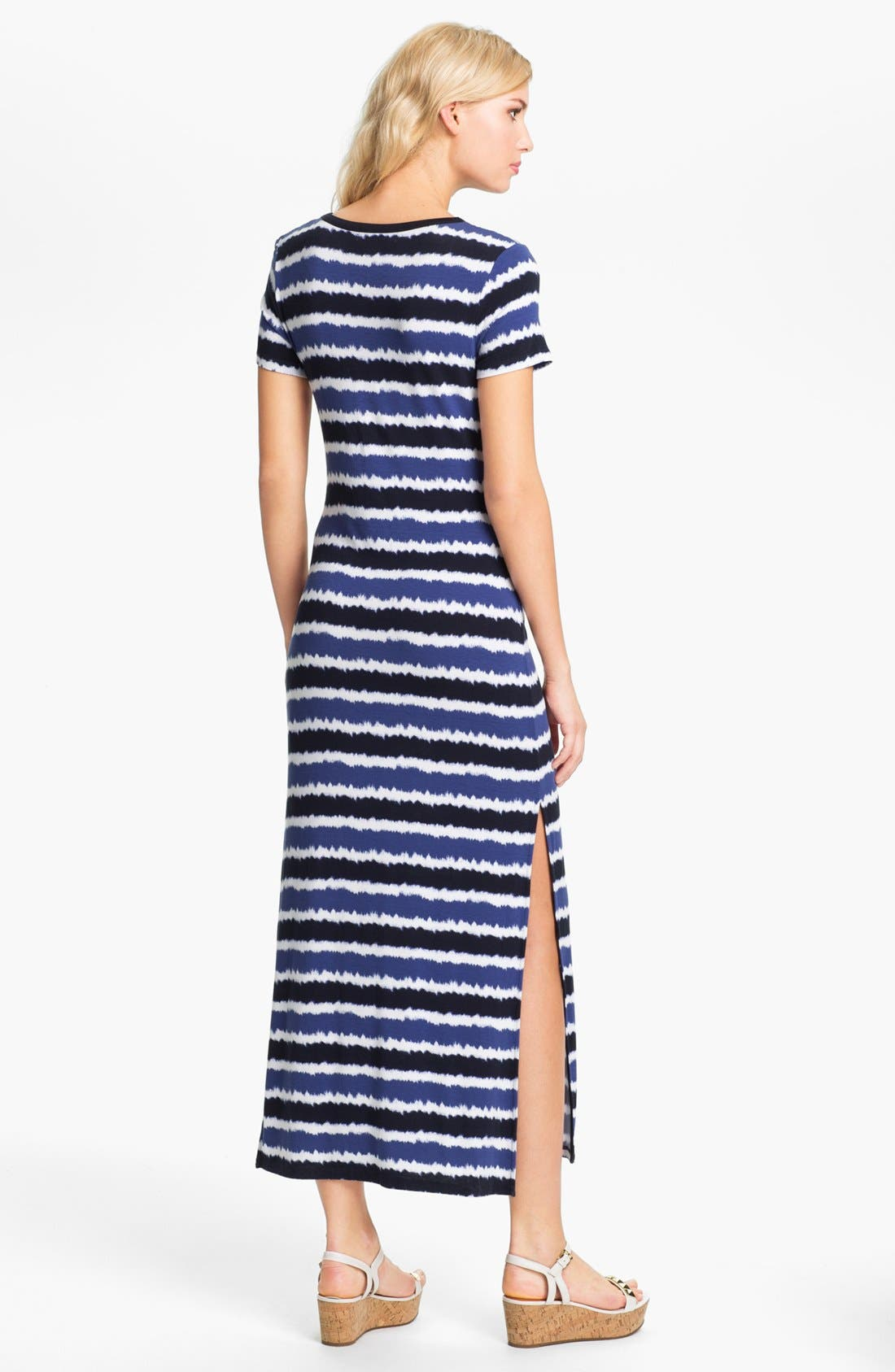 Alternate Image 2  - MICHAEL Michael Kors Crewneck Maxi Dress (Petite)
