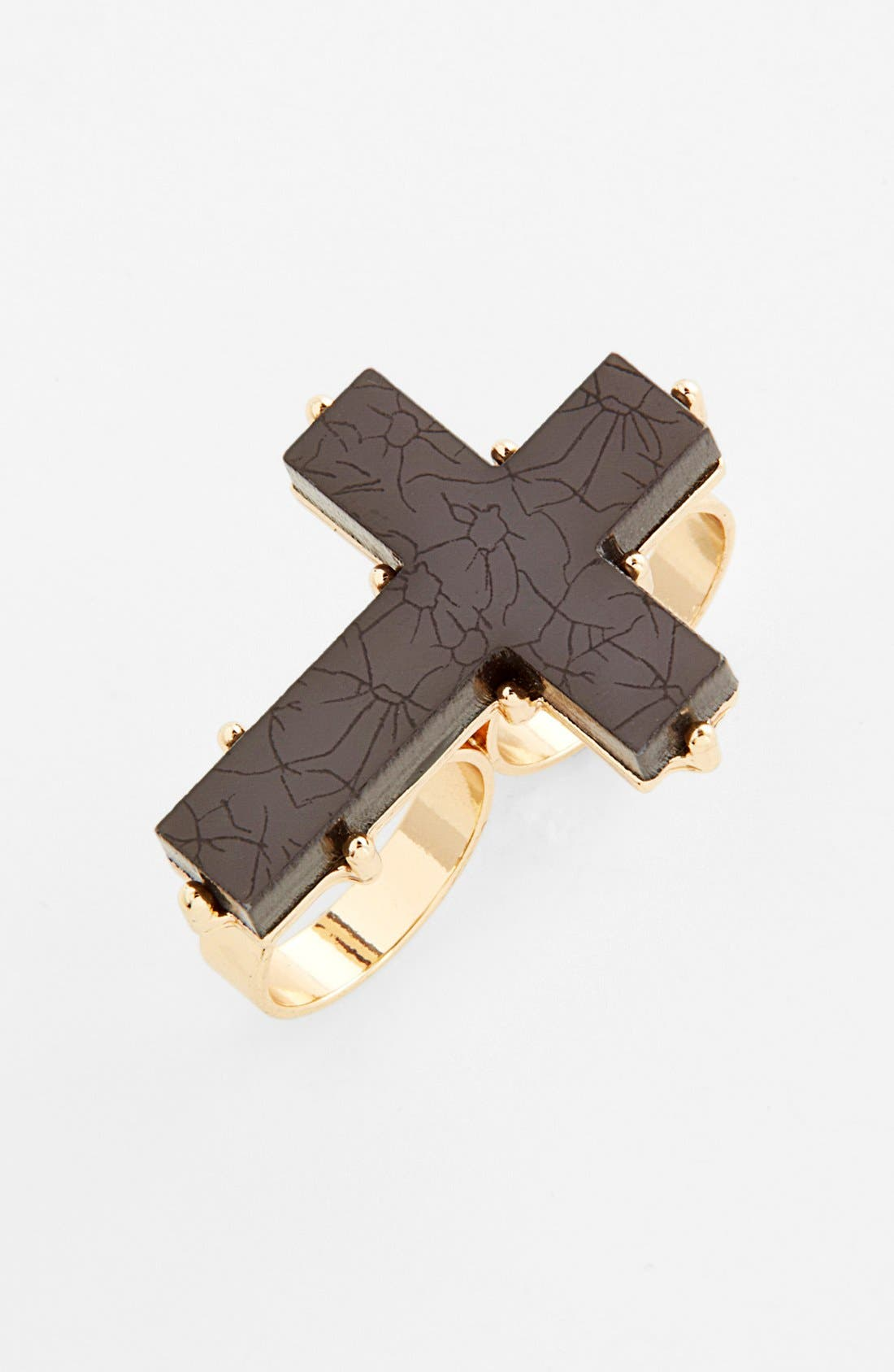Alternate Image 1 Selected - Cara Couture Cross Double Finger Ring