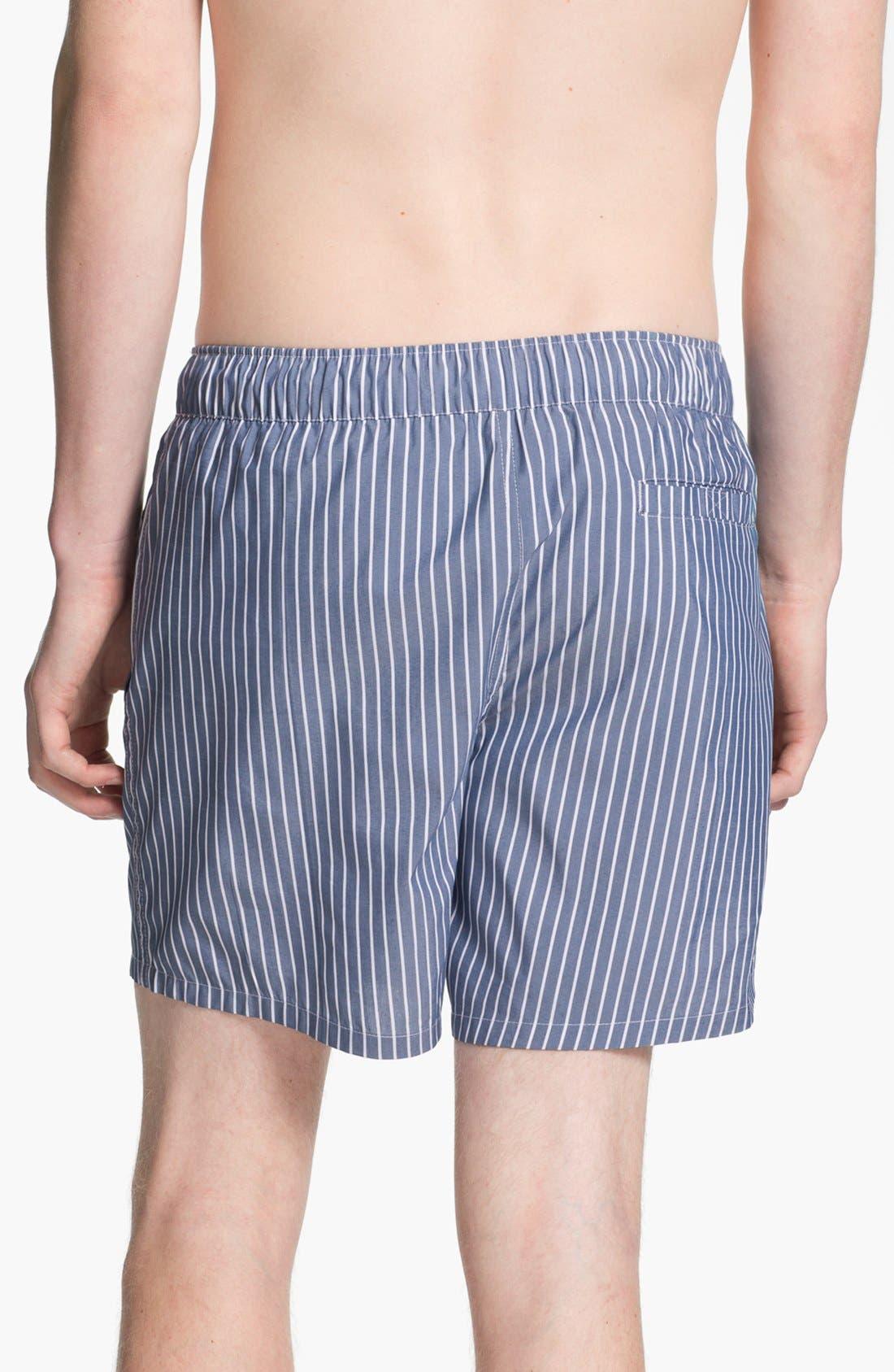 Alternate Image 2  - Topman Stripe Swim Trunks