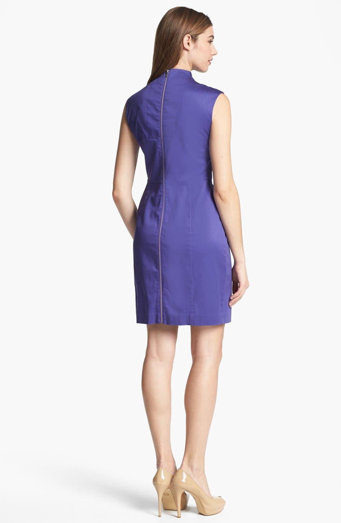 Alternate Image 2  - Marc New York by Andrew Marc Satin Sheath Dress