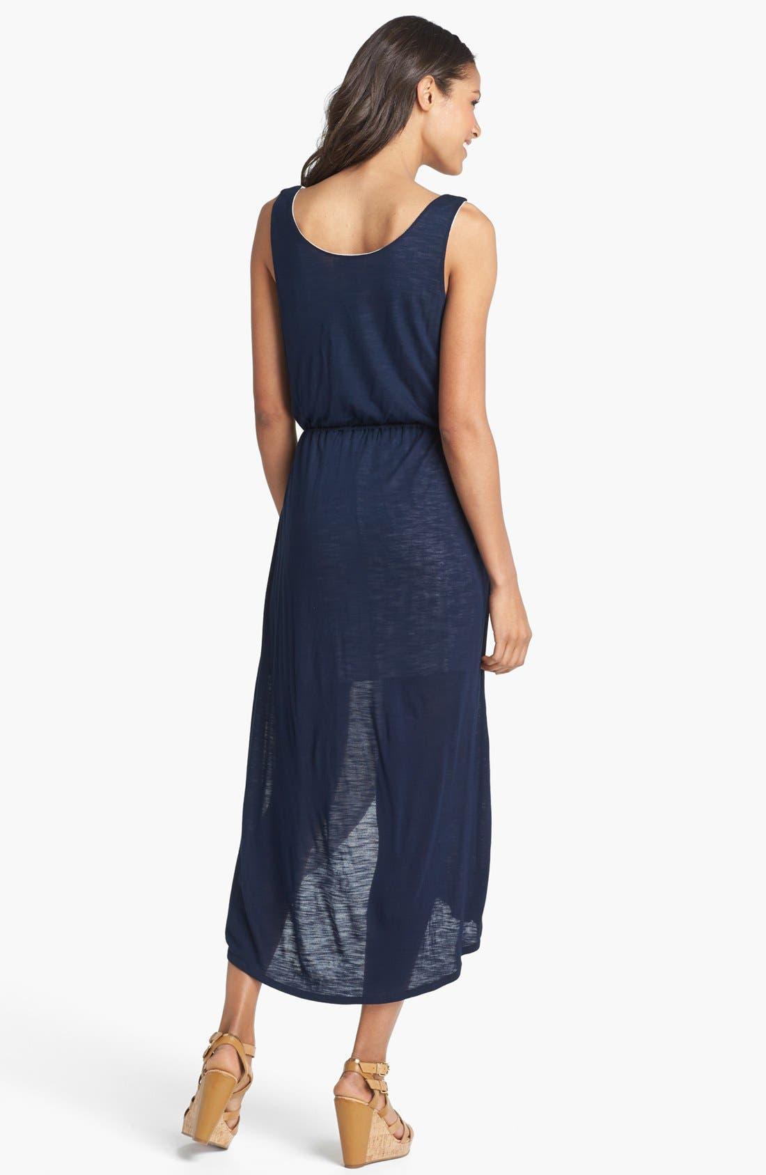 Alternate Image 2  - Olive & Oak Colorblock Knit High/Low Dress (Online Exclusive)