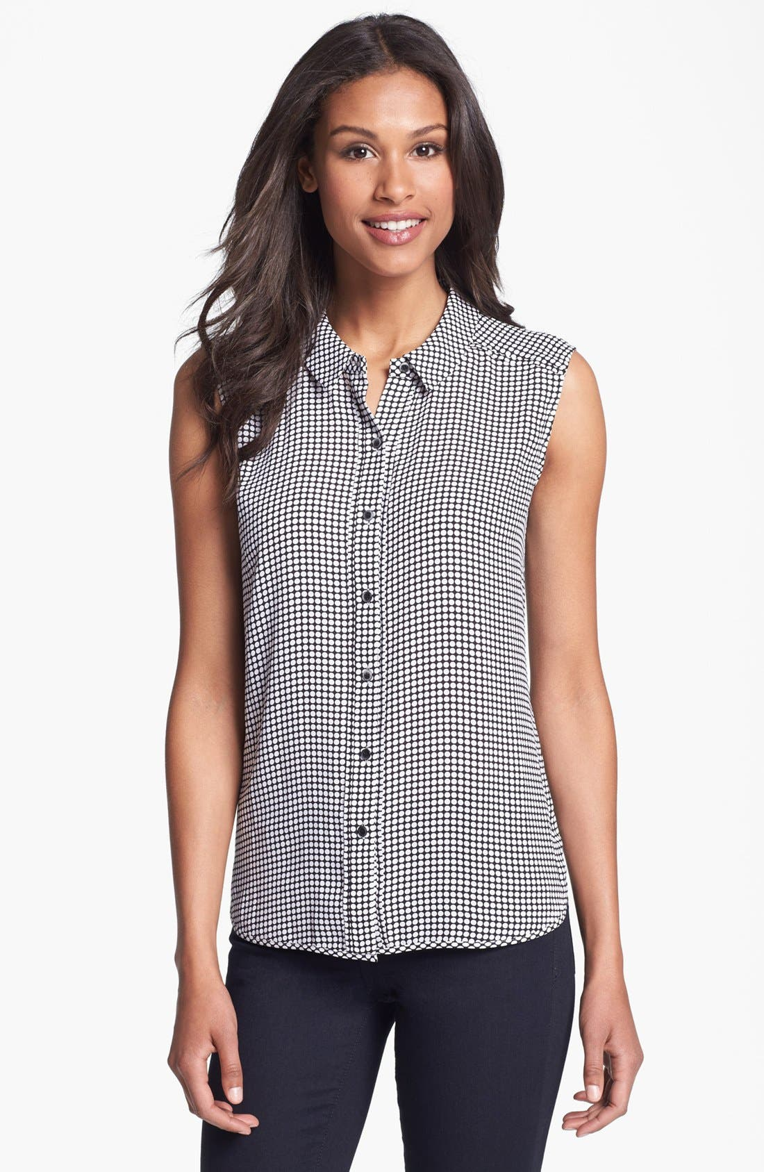 Main Image - Halogen® Dot Sleeveless Shirt
