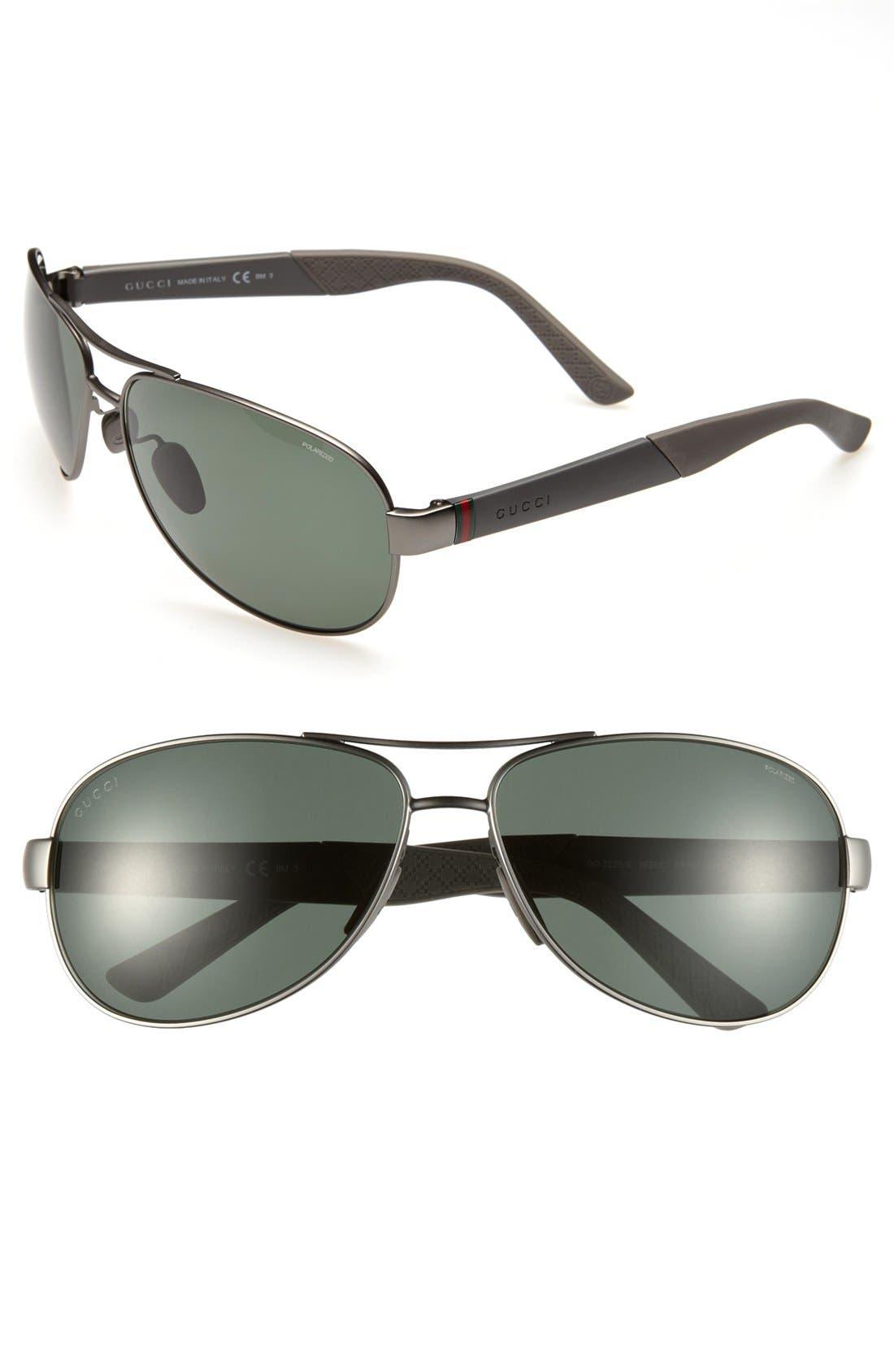 Alternate Image 1 Selected - Gucci Polarized 63mm Sunglasses