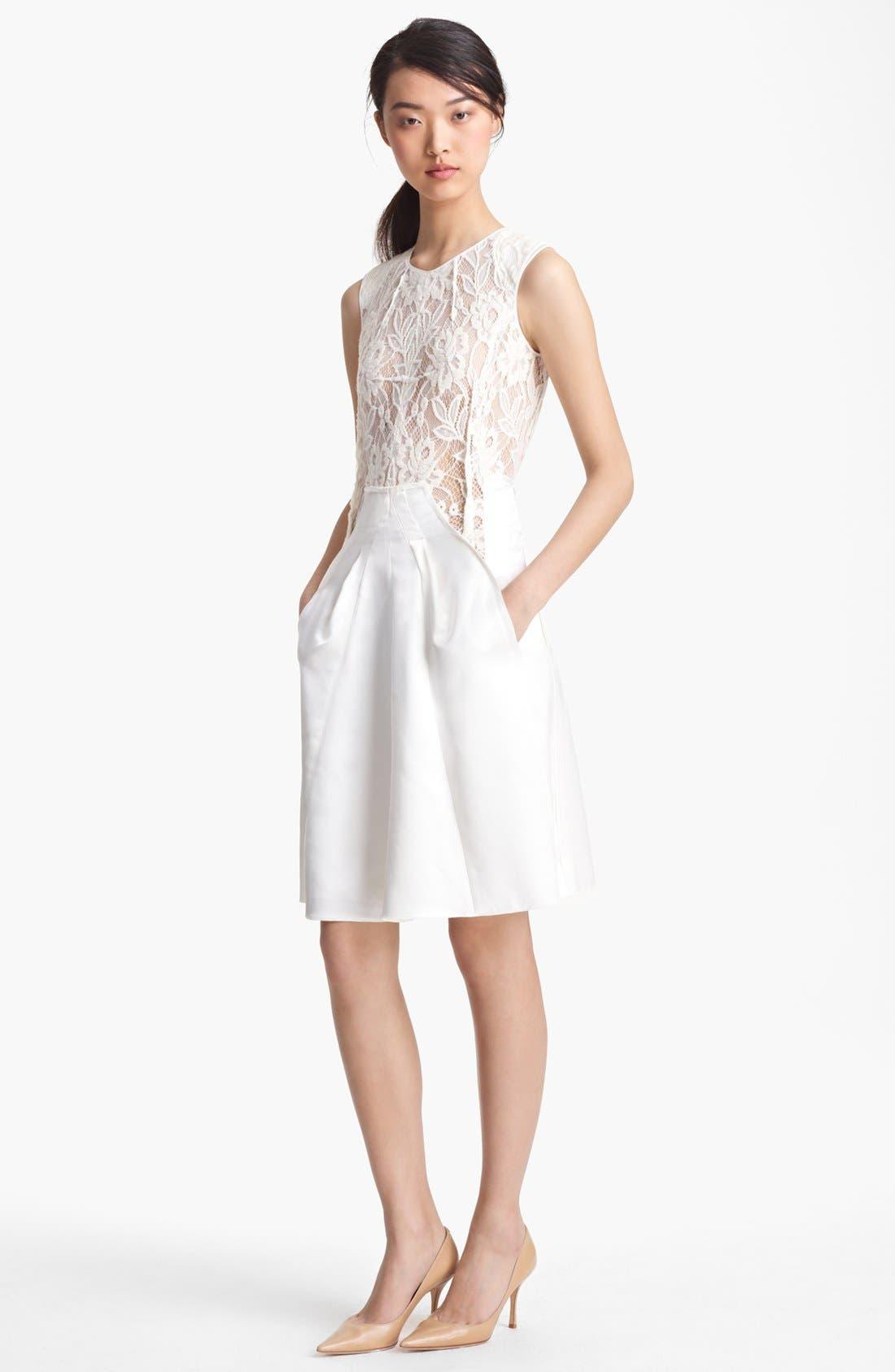 Main Image - Nina Ricci Lace & Satin Dress