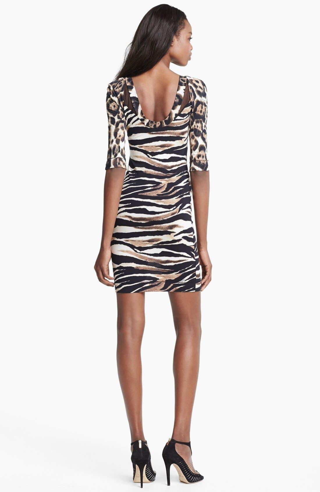 Alternate Image 2  - Just Cavalli Leopard & Zebra Print Jersey Dress