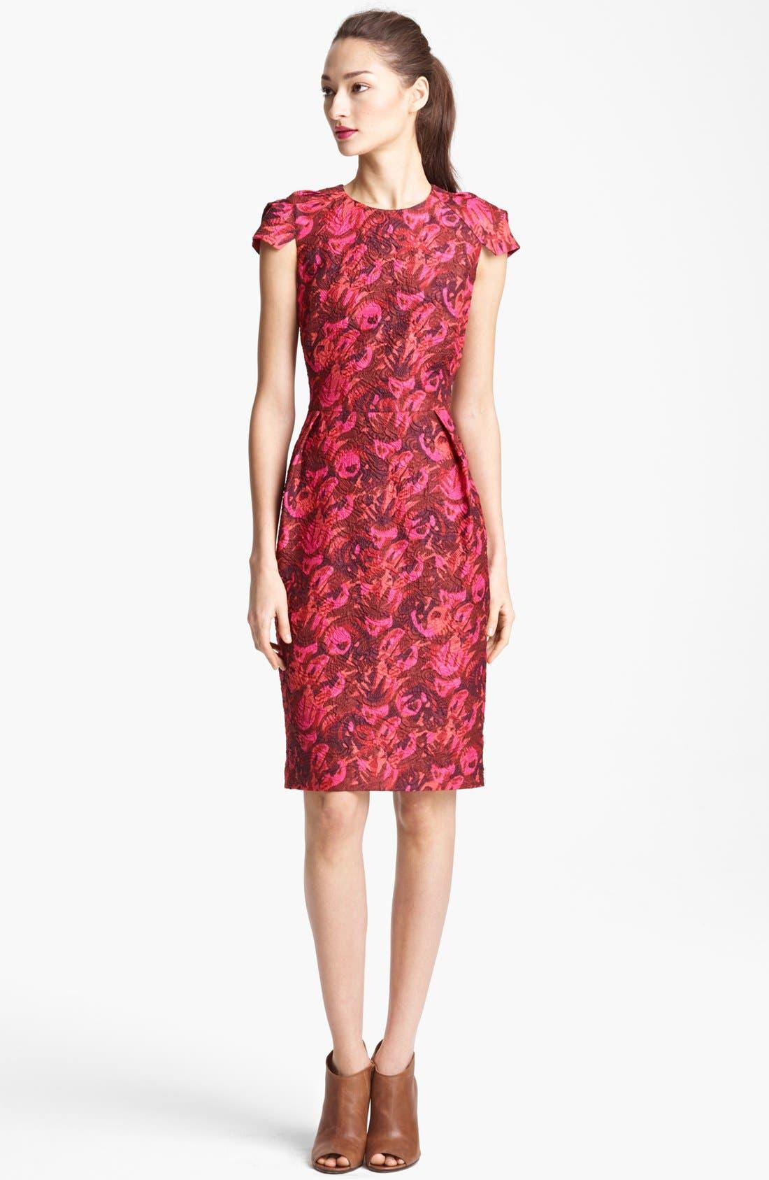 Main Image - Lida Baday Print Cloqué Dress