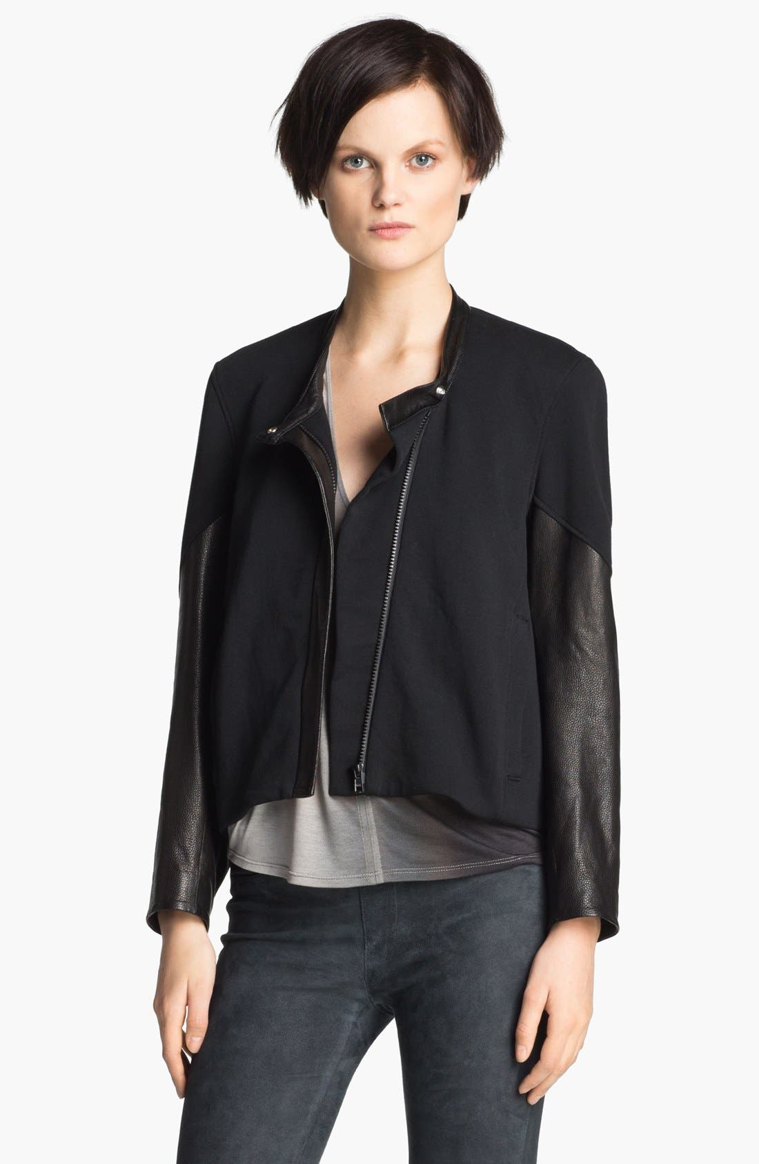 Main Image - Helmut Lang 'Terry' Crop Jacket