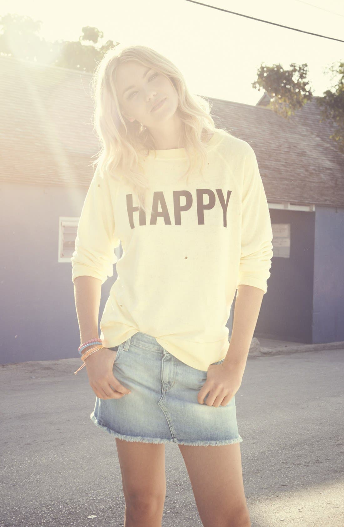 Alternate Image 4  - Wildfox 'Life Is Good' Boatneck Sweatshirt