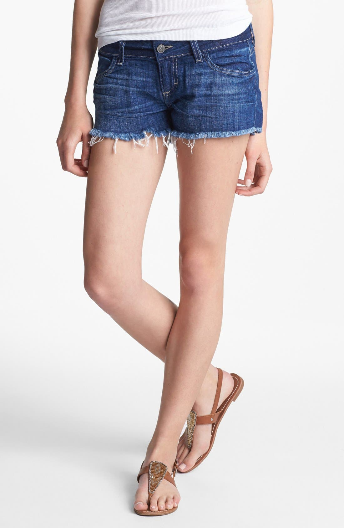 Alternate Image 1 Selected - Siwy 'Camilla' Denim Cutoff Shorts (Come Away with Me)