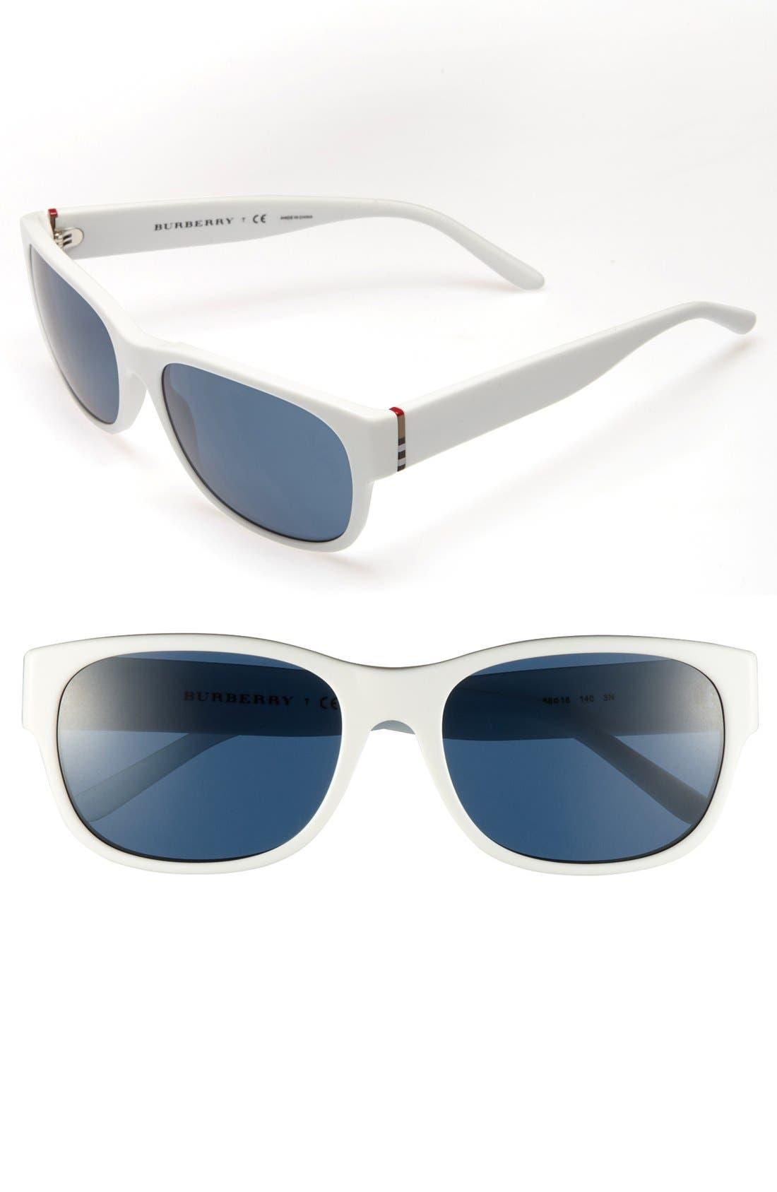 Main Image - Burberry 58mm Logo Hinge Sunglasses