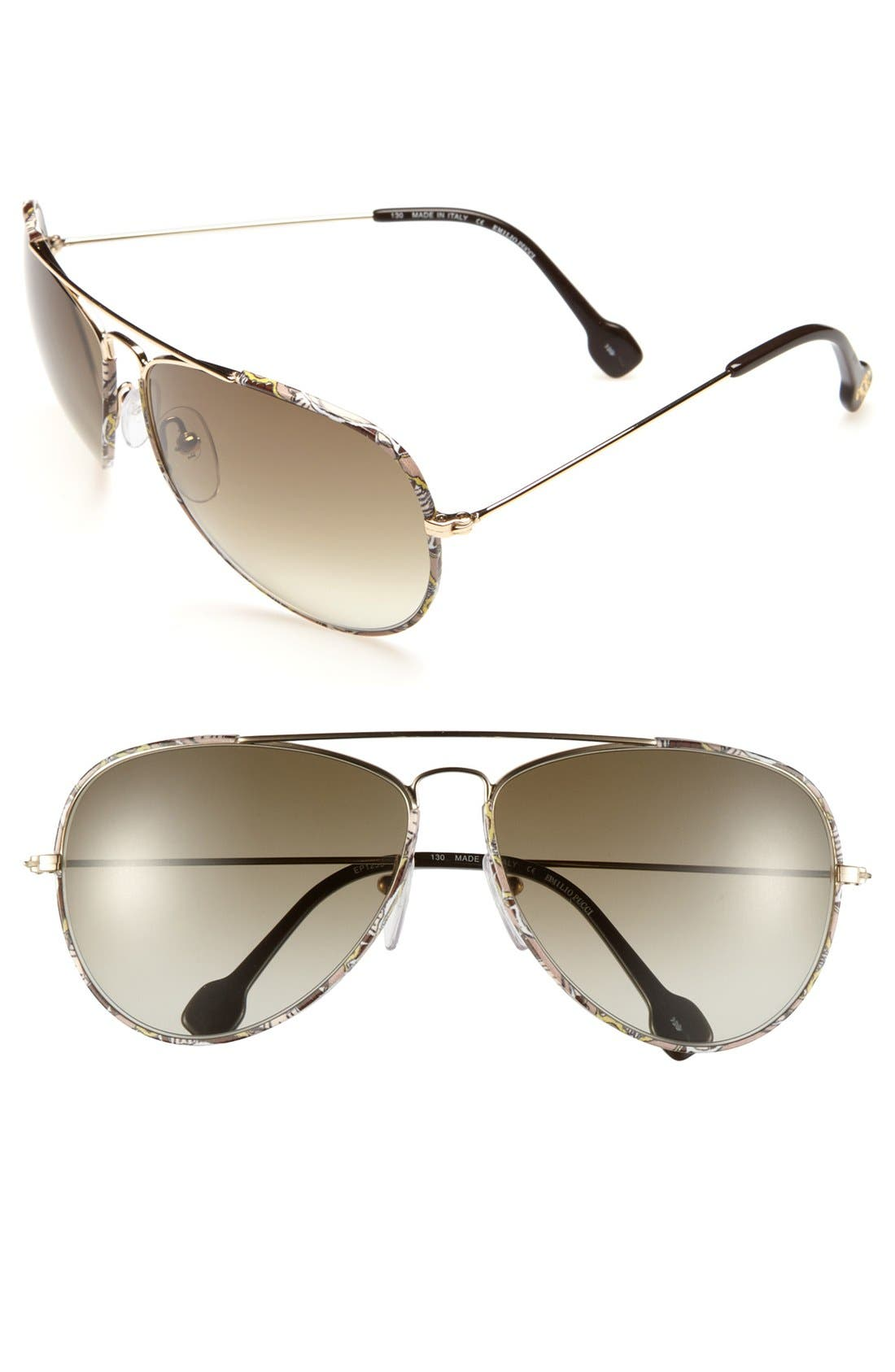 Alternate Image 1 Selected - Emilio Pucci 62mm Metal Aviator Sunglasses (Special Purchase)