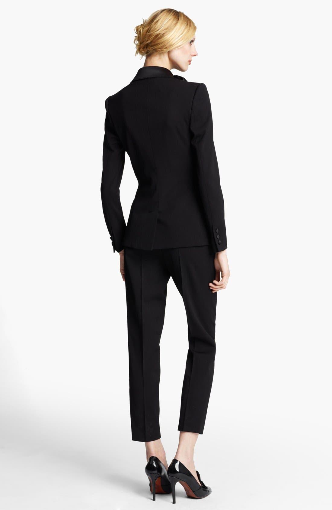 Alternate Image 2  - Lanvin Satin Lapel Tuxedo Jacket