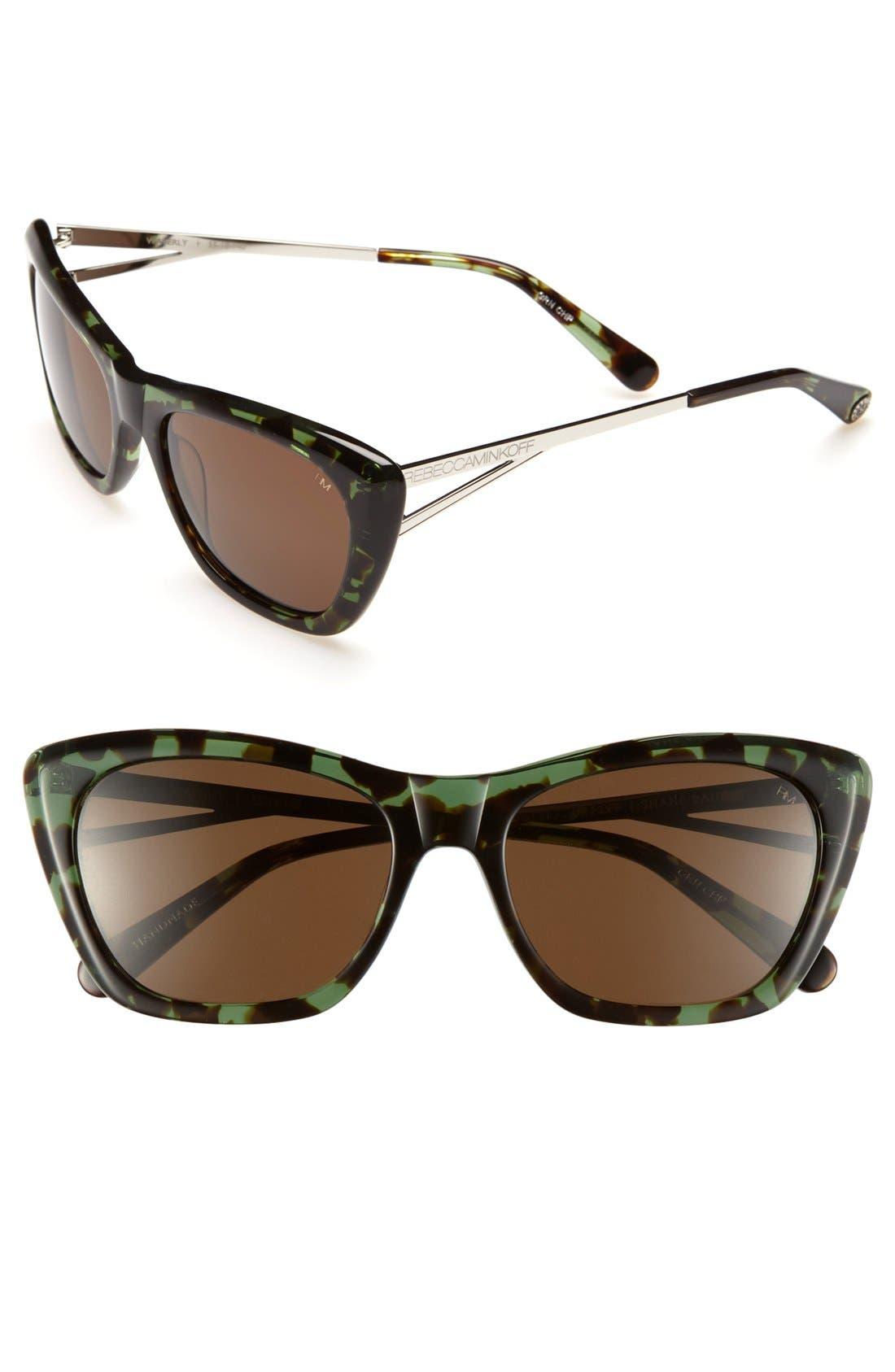 Main Image - Rebecca Minkoff 'Waverly' 55mm Sunglasses
