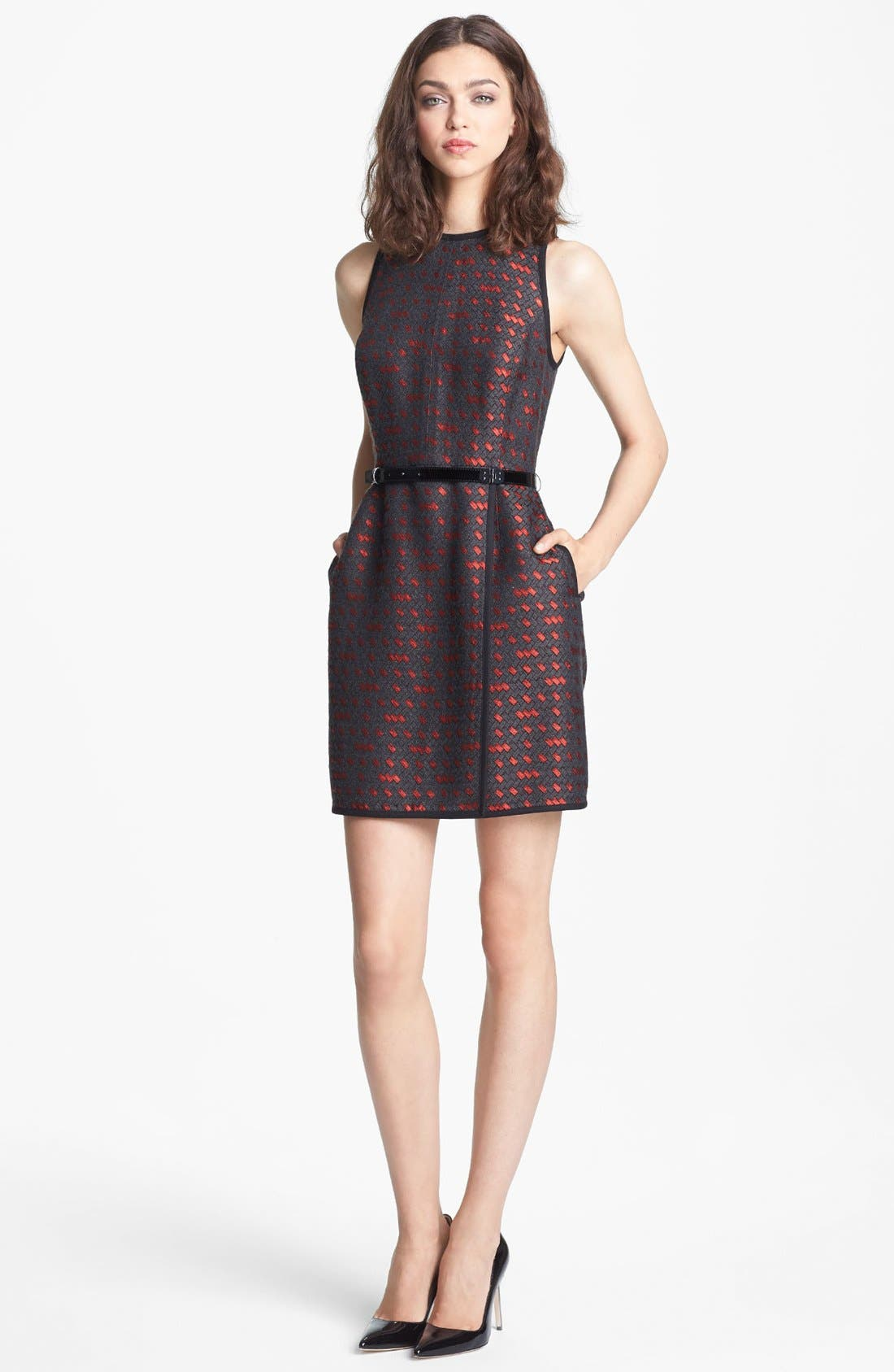 Main Image - Miss Wu 'Gallone' Jacquard Dress (Nordstrom Exclusive)