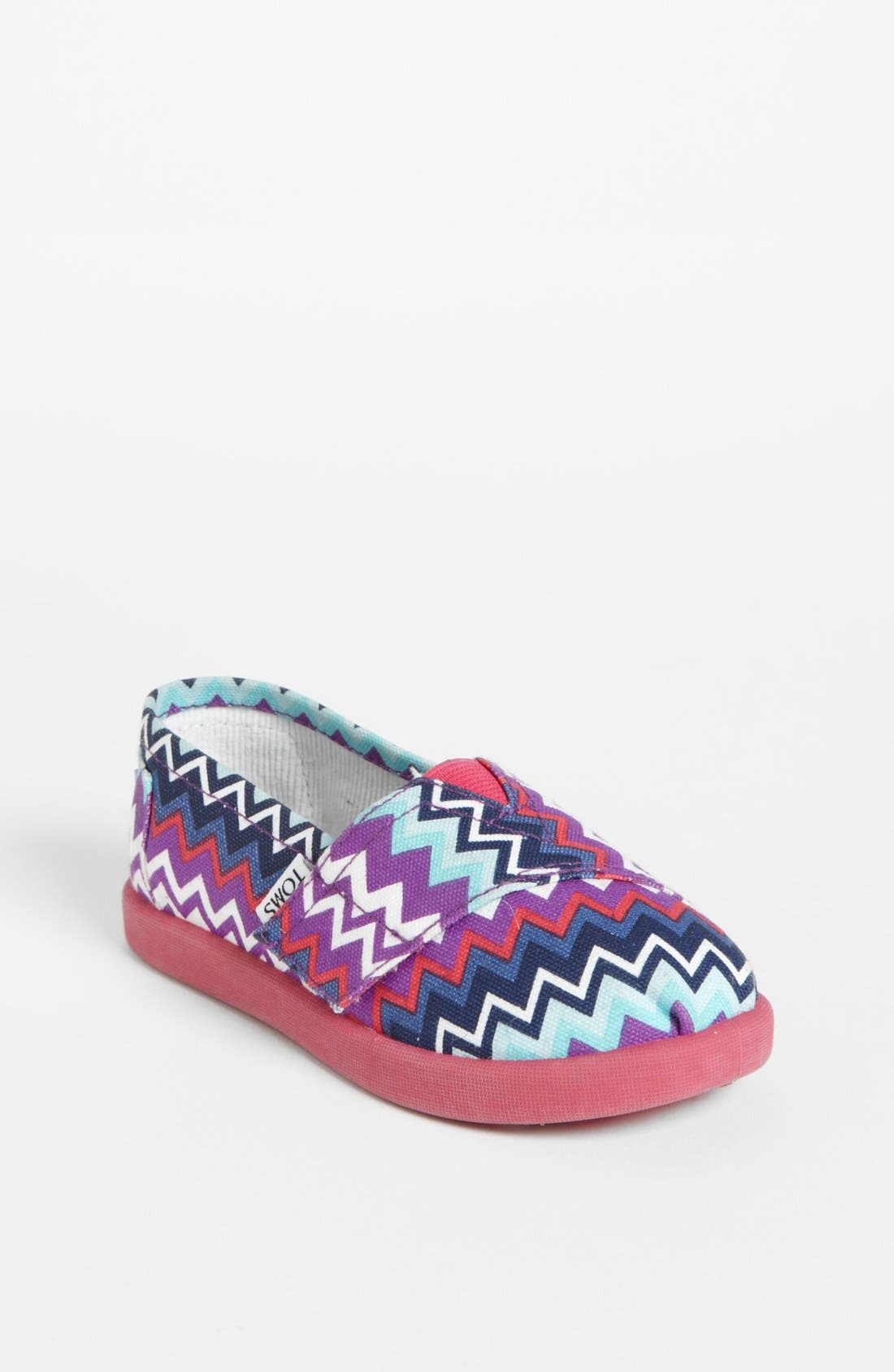 Alternate Image 1 Selected - TOMS 'Classic Tiny - Zig Zag Pop' (Baby, Walker & Toddler)