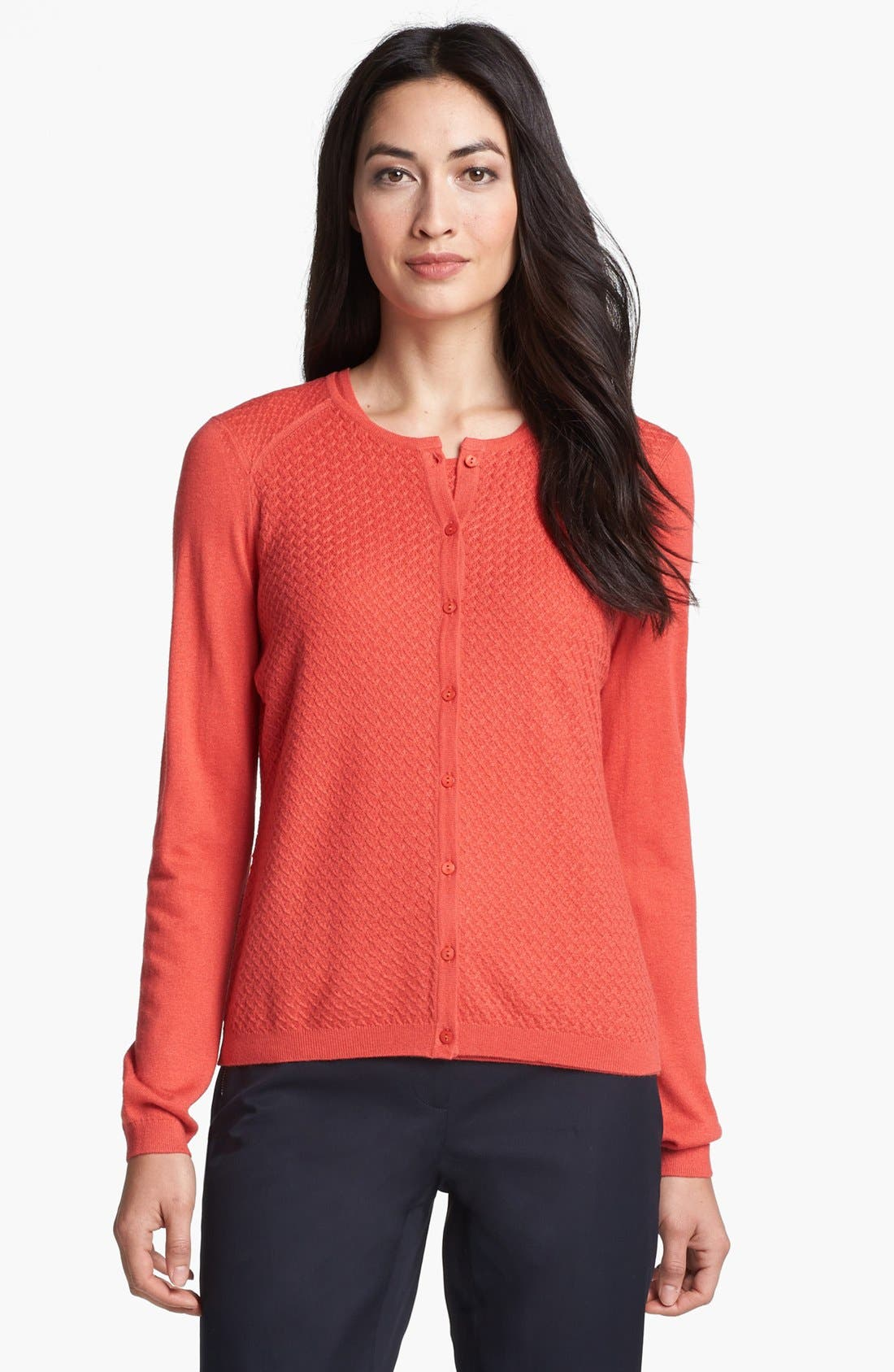 Main Image - Nordstrom Collection Silk & Cashmere Textured Cardigan