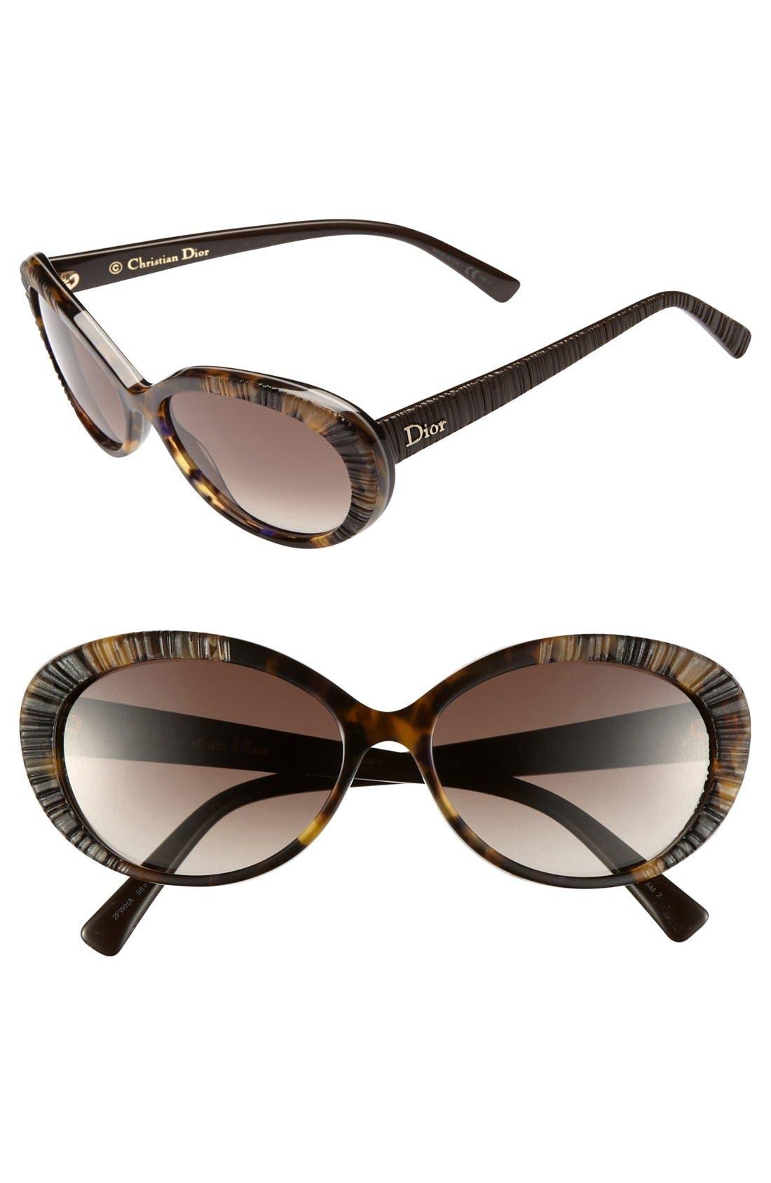 Alternate Image 1 Selected - Christian Dior 'Taffeta 3/S' 56mm Sunglasses