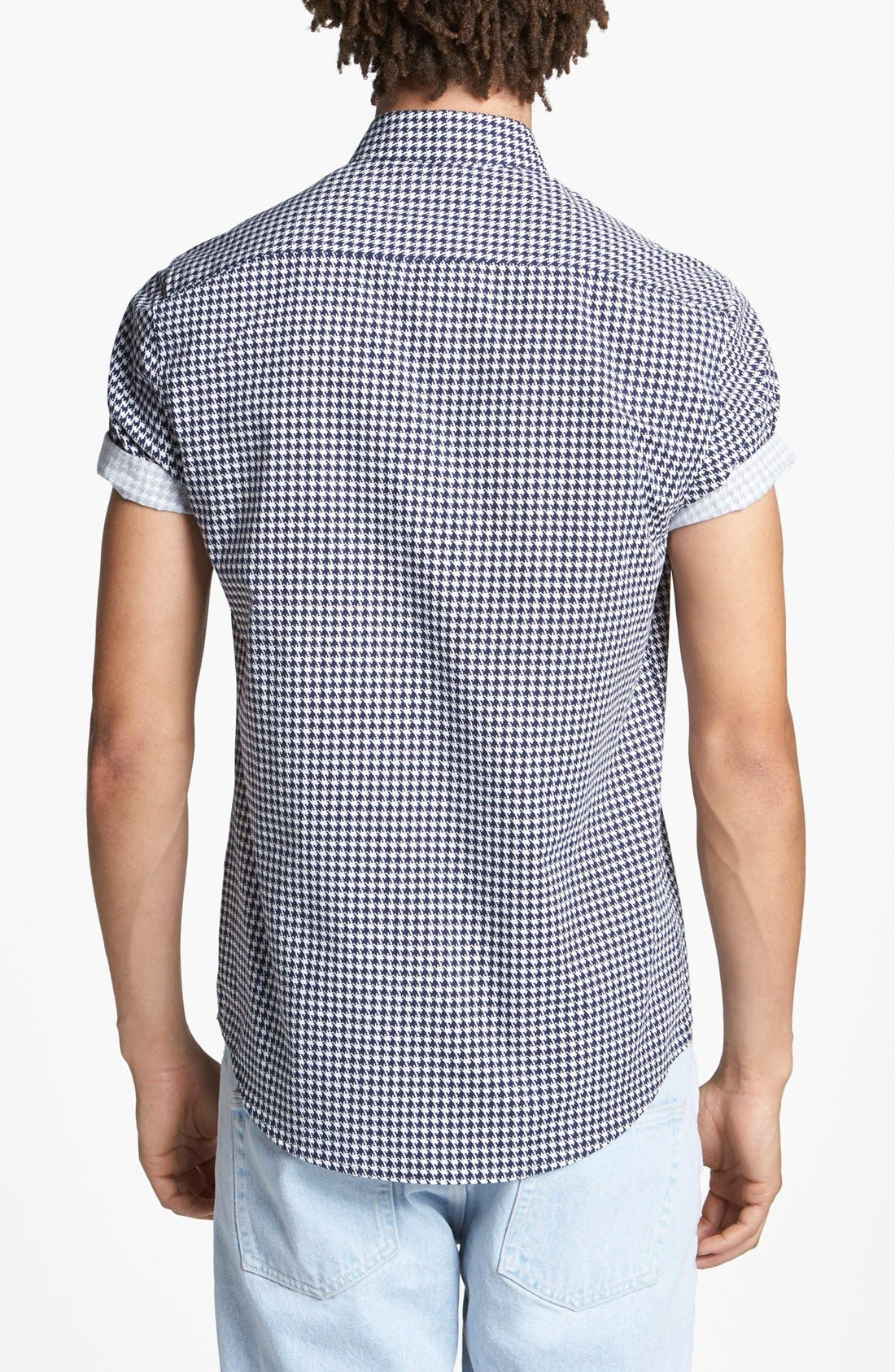Alternate Image 2  - Topman Micro Houndstooth Shirt