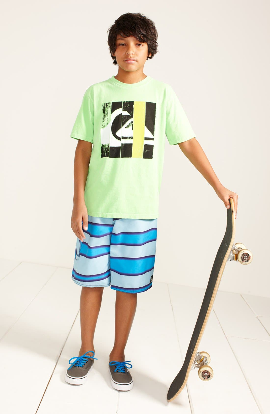 Alternate Image 1 Selected - Quiksilver T-Shirt & Board Shorts (Big Boys)