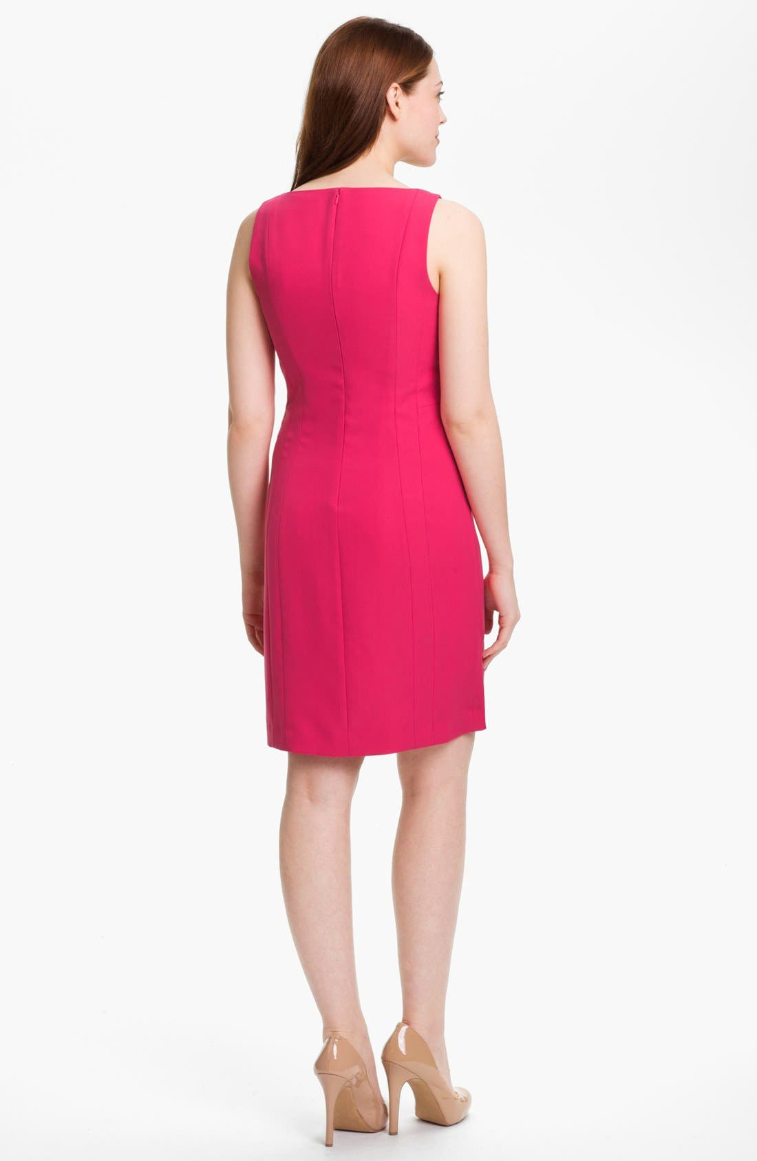 Alternate Image 2  - Halogen® Seamed Sheath Dress (Petite)