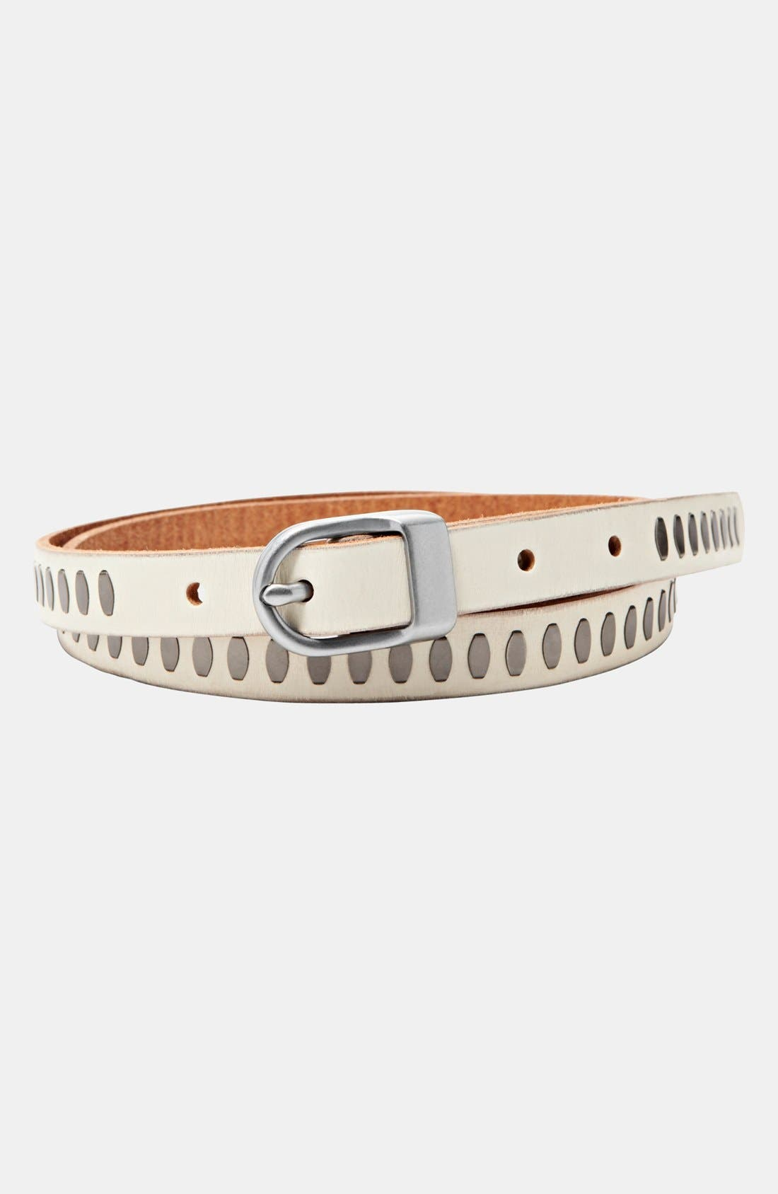 Main Image - Fossil Riveted Leather Belt