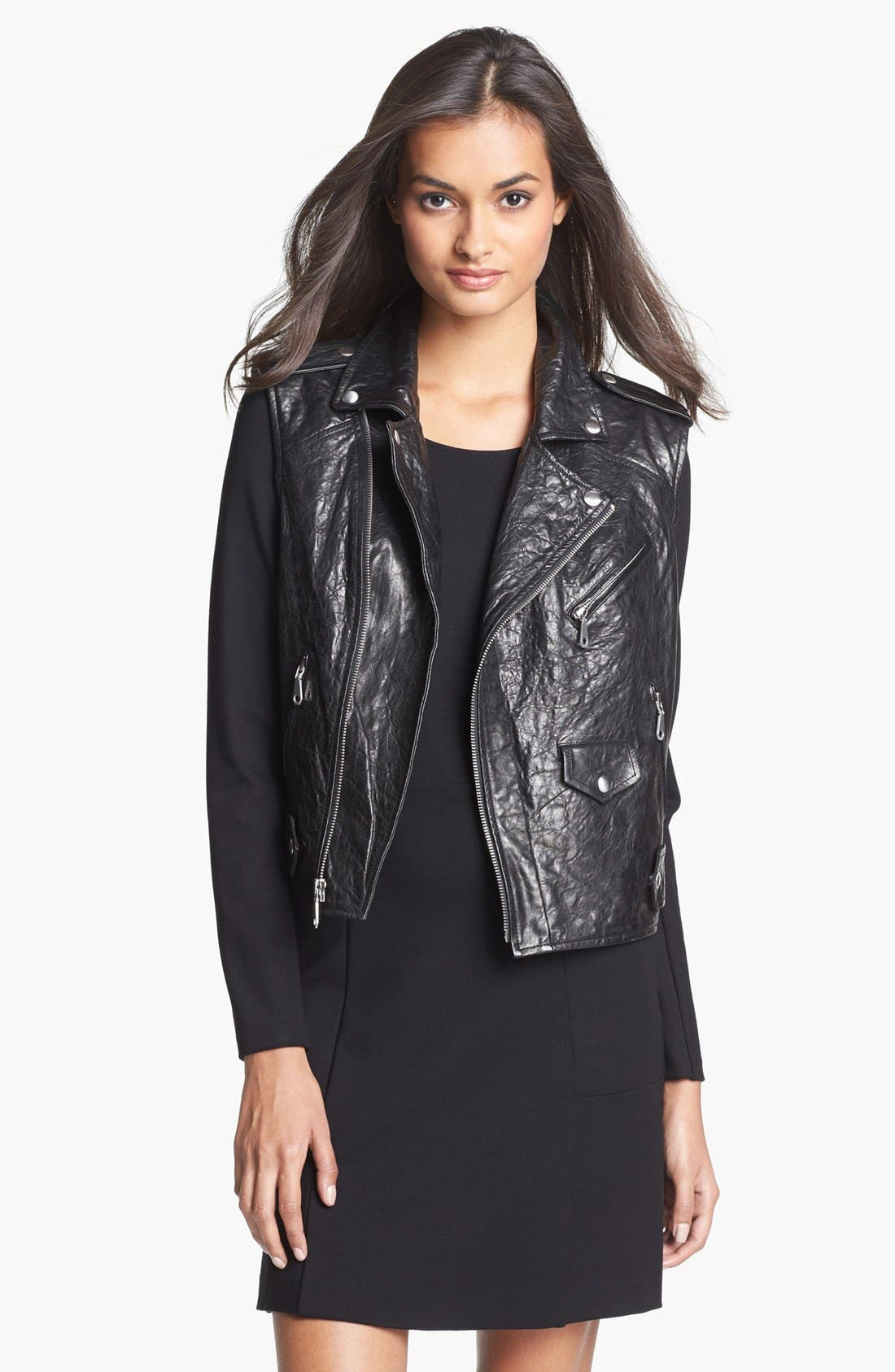 Alternate Image 1 Selected - Rebecca Minkoff 'Leandra' Leather Vest
