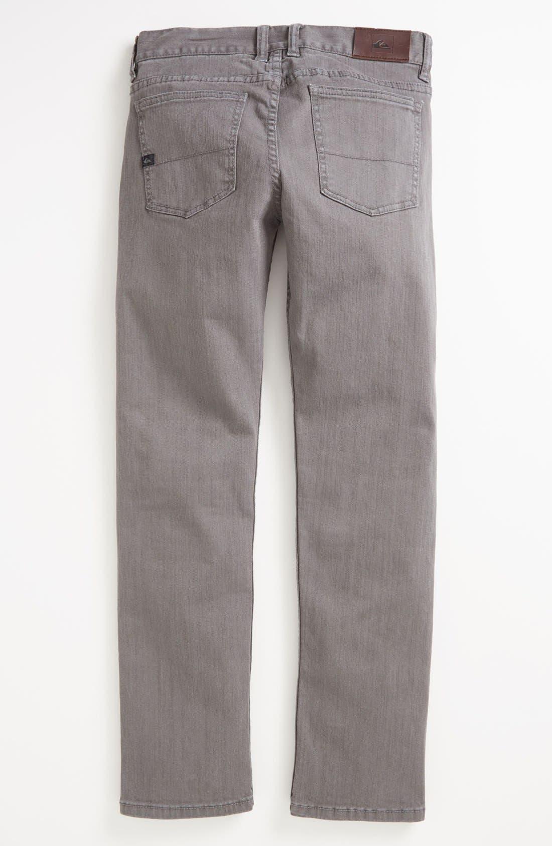 Alternate Image 1 Selected - Quiksilver 'Distortion' Slim Straight Leg Jeans (Little Boys)