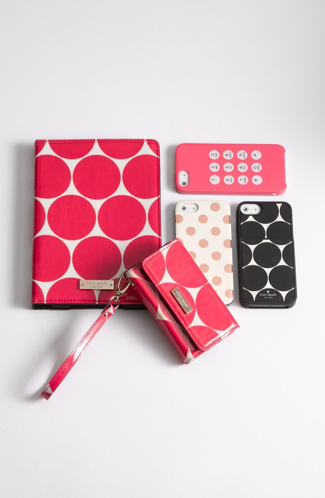 Alternate Image 3  - kate spade new york 'deborah dot' iPhone 5 & 5S case & card holder