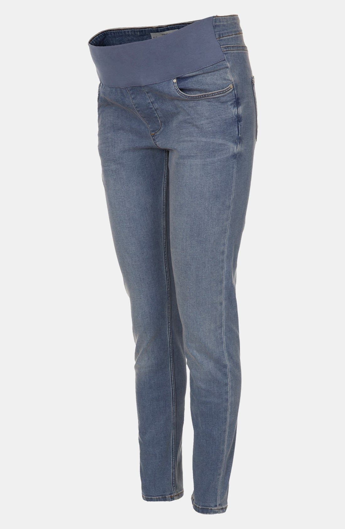 Main Image - Topshop 'Jamie' Denim Maternity Leggings