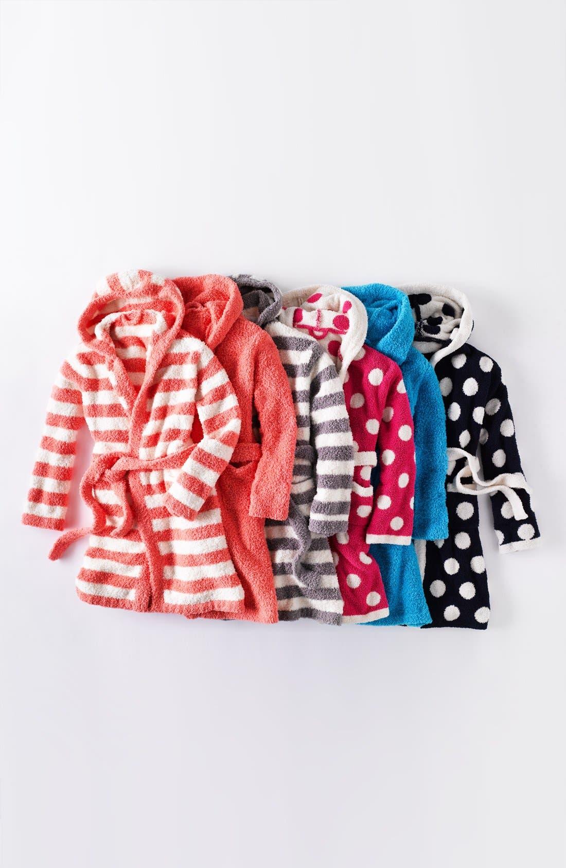 Alternate Image 2  - Barefoot Dreams® Polka Dot Short Hooded Robe