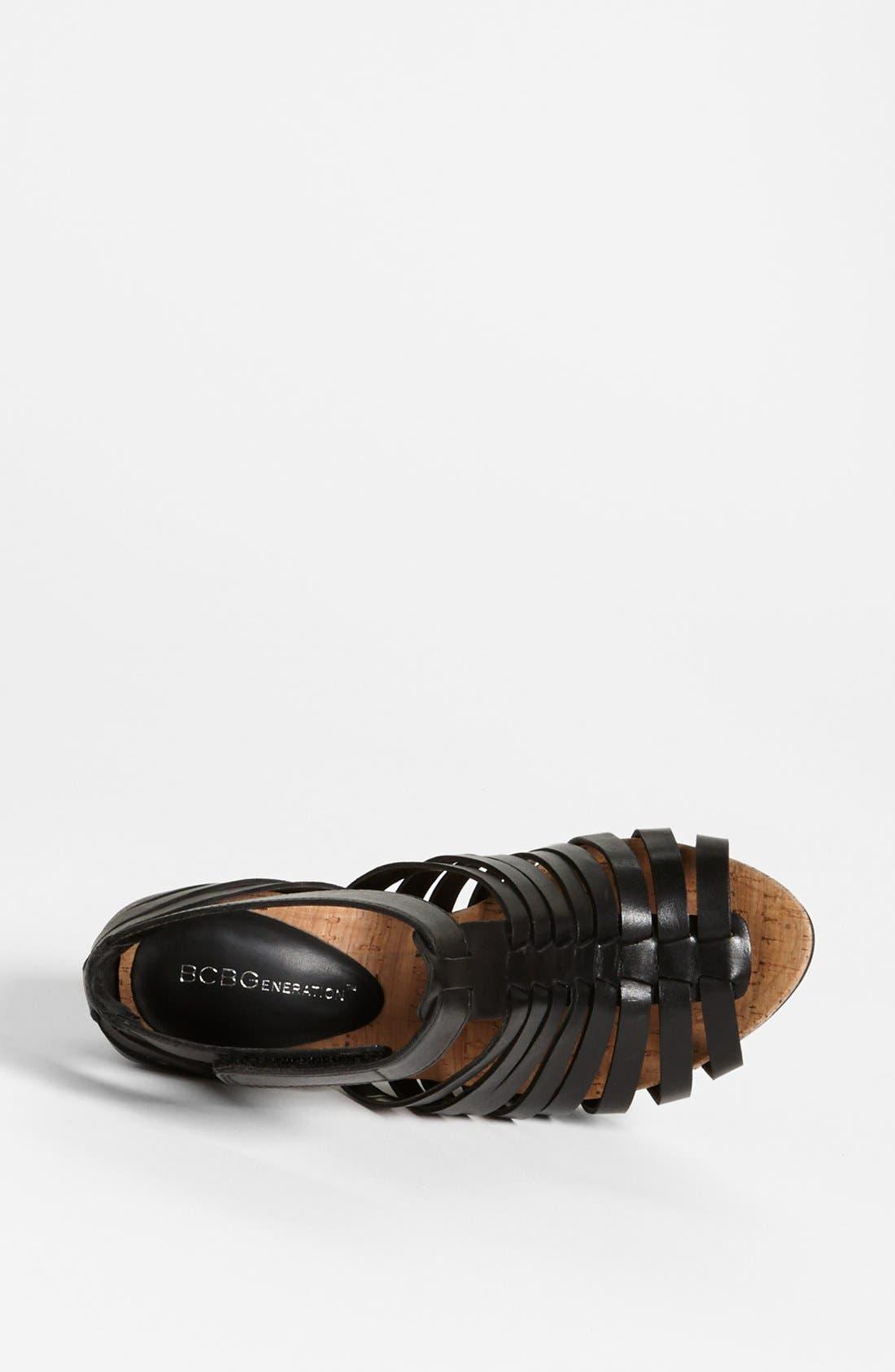 'Gerrie' Sandal,                             Alternate thumbnail 3, color,                             Black