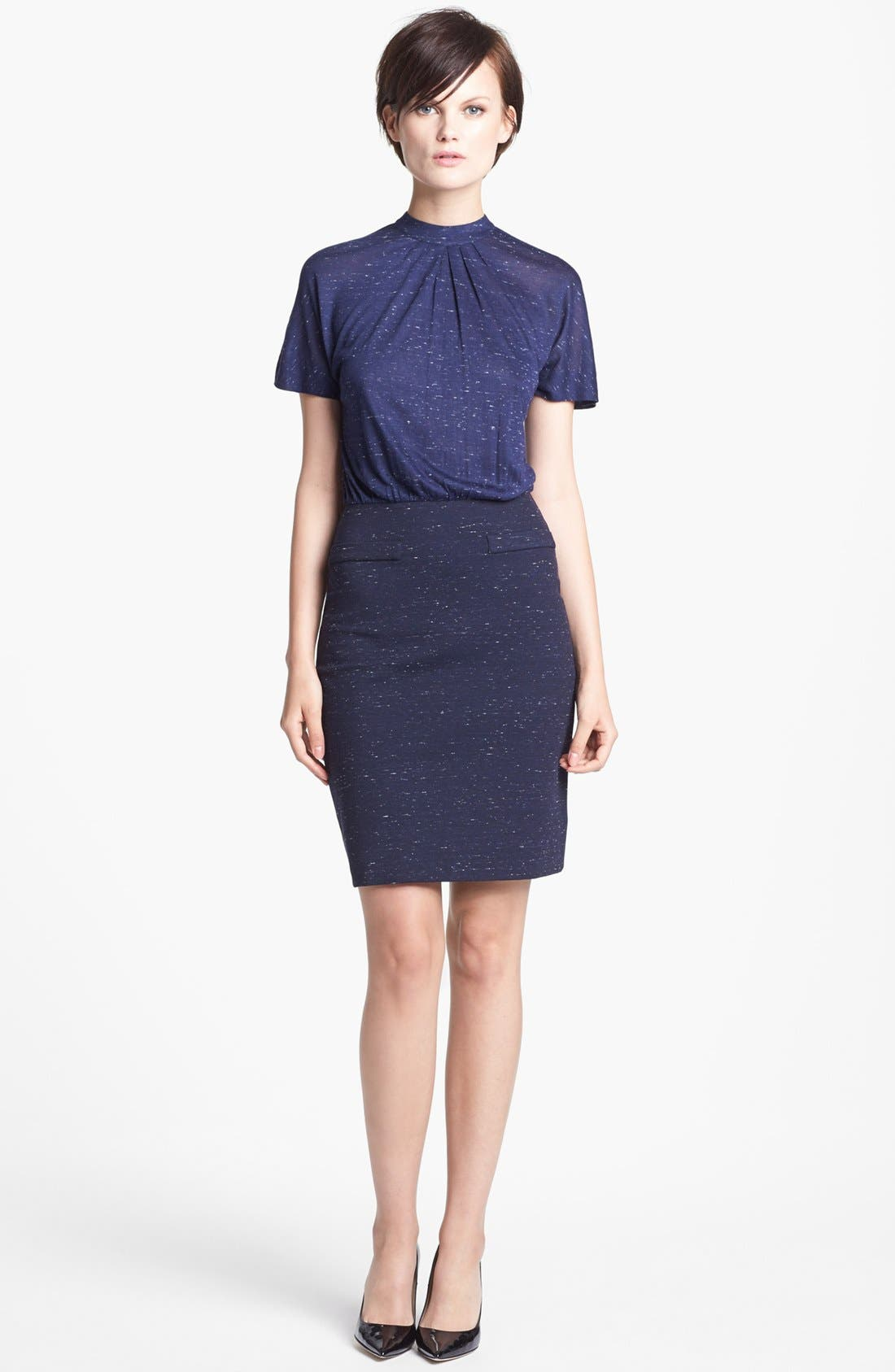 Alternate Image 1 Selected - MARC BY MARC JACOBS 'Alicia' Mélange Ponte Sheath Dress