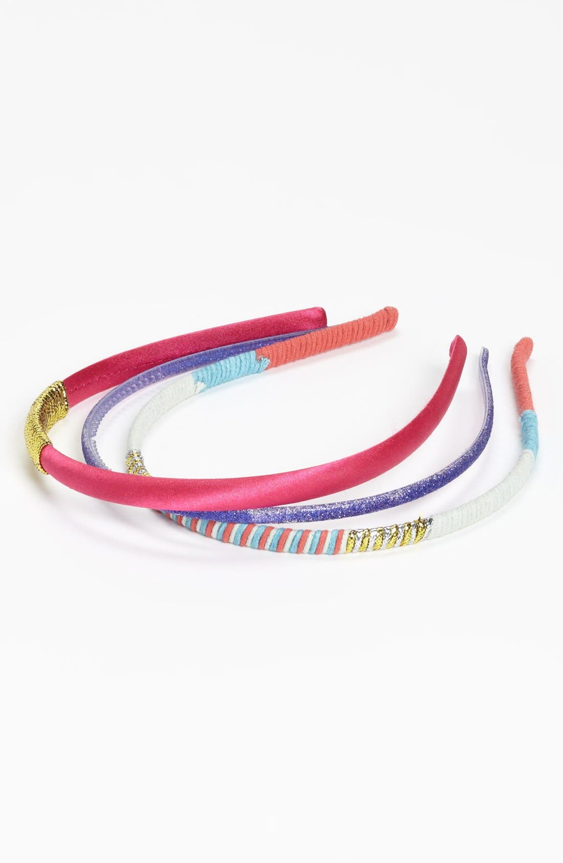 Alternate Image 1 Selected - Capelli of New York Headbands (Set of 3) (Girls)