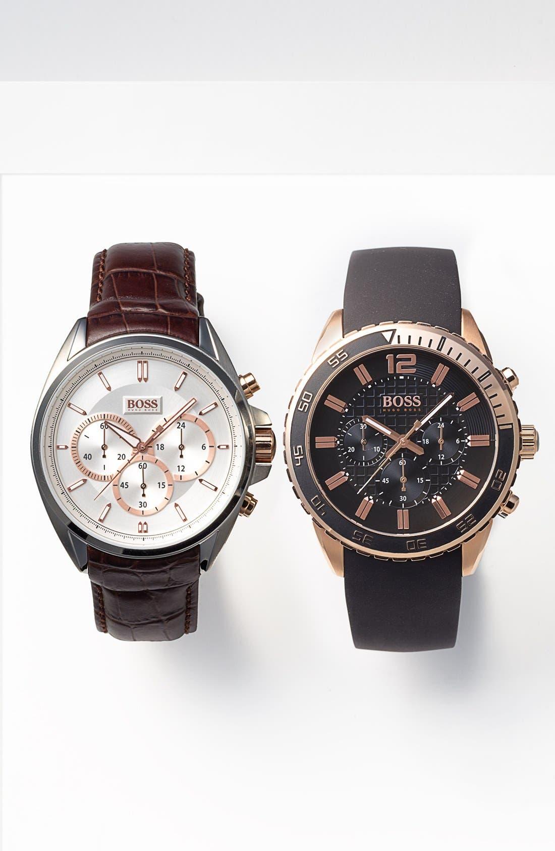 Alternate Image 4  - BOSS HUGO BOSS 'Deep Blue SX' Chronograph Watch, 46mm