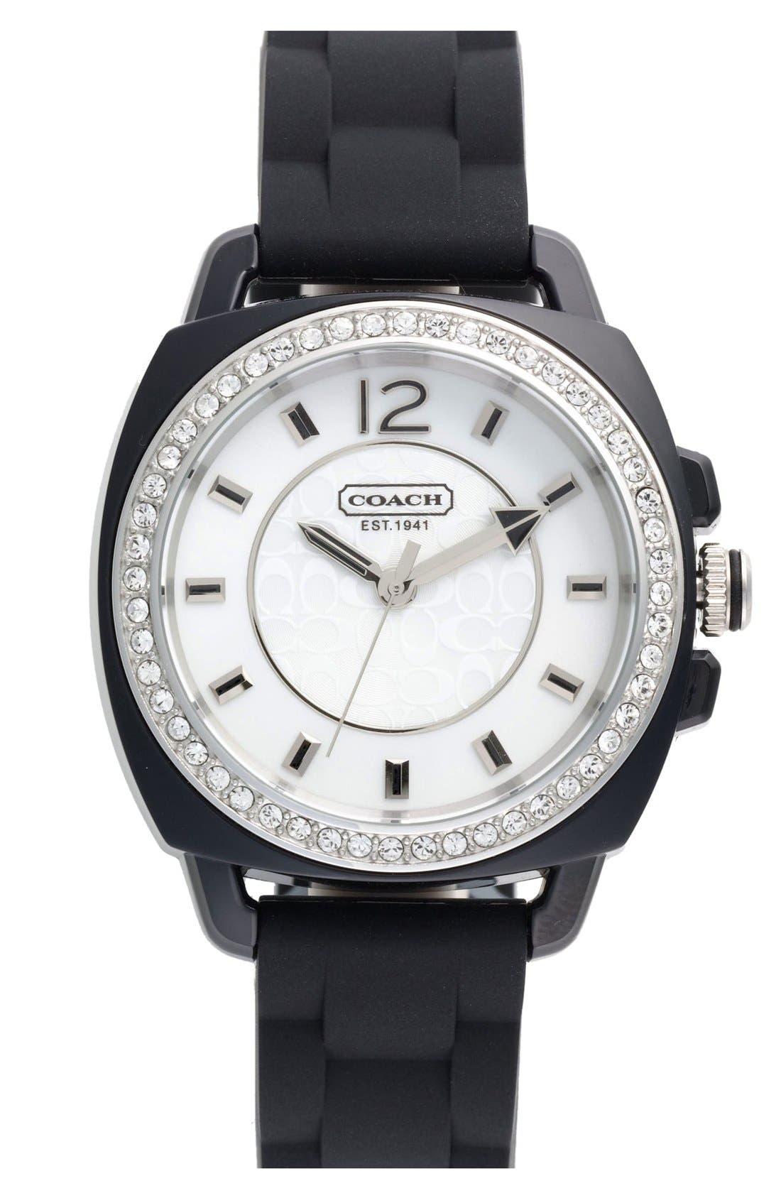 Alternate Image 1 Selected - COACH 'Boyfriend' Crystal Bezel Watch, 39mm