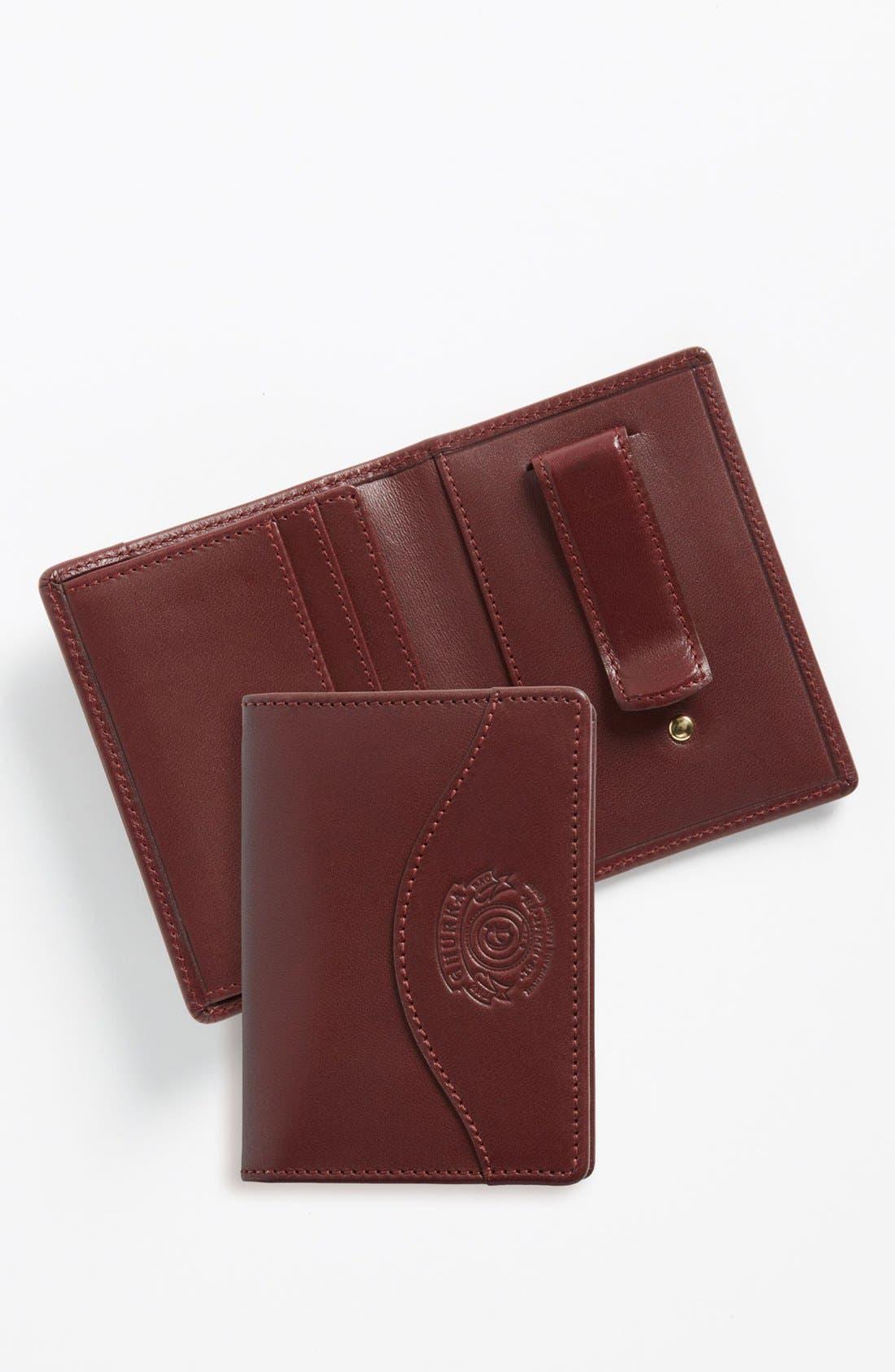 Alternate Image 1 Selected - Ghurka Leather Money Clip Wallet
