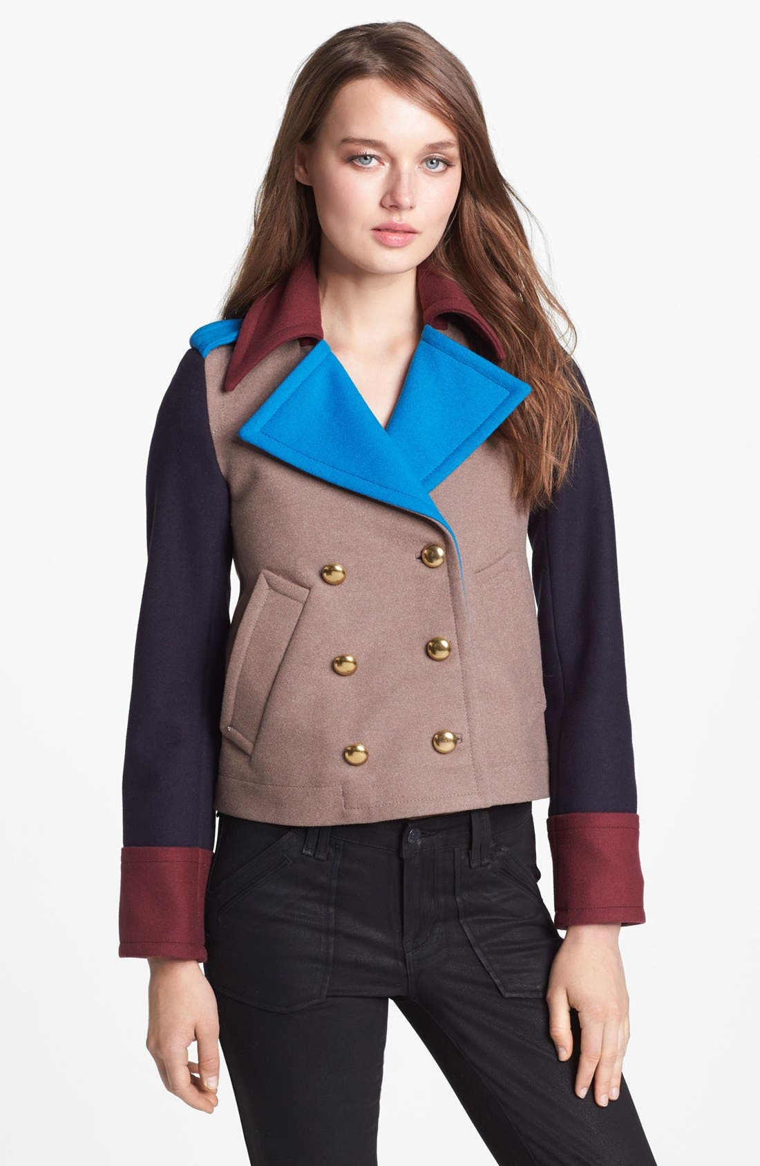 Alternate Image 1 Selected - MARC BY MARC JACOBS 'Nicoletta' Colorblock Crop Jacket