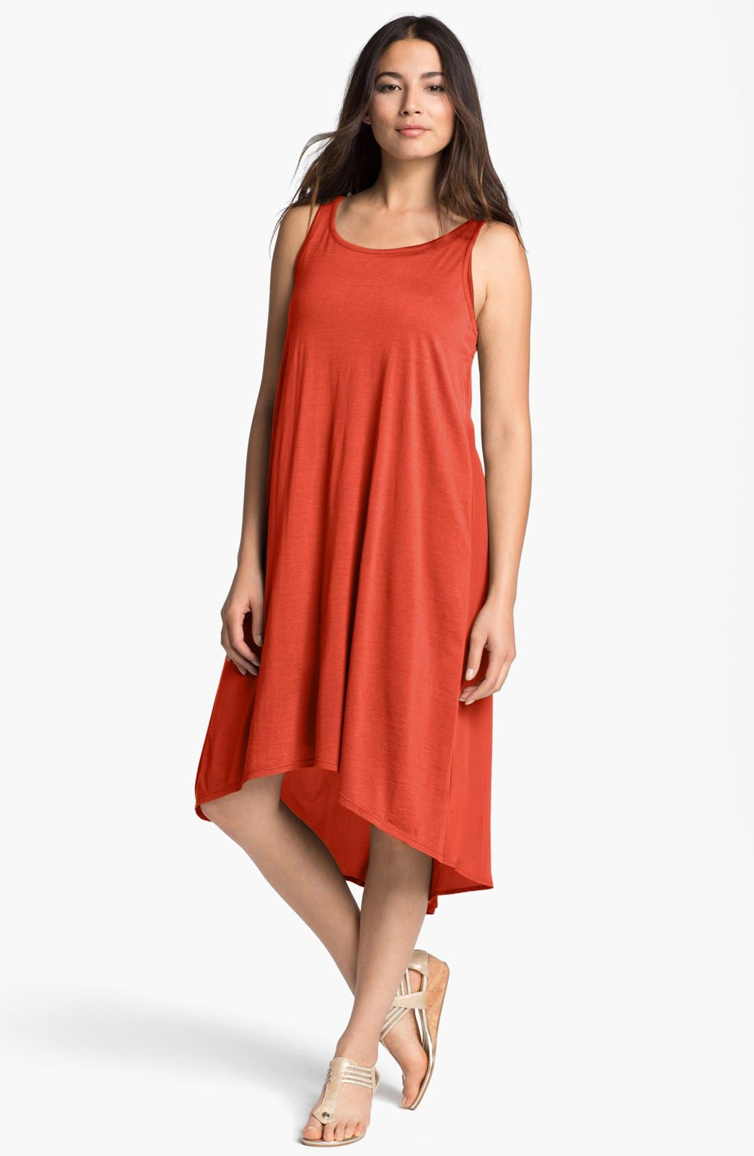 Main Image - Eileen Fisher Flared Dress & Sandal