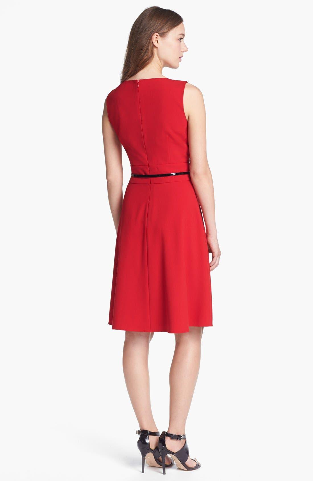 Alternate Image 2  - Calvin Klein Fit & Flare Dress