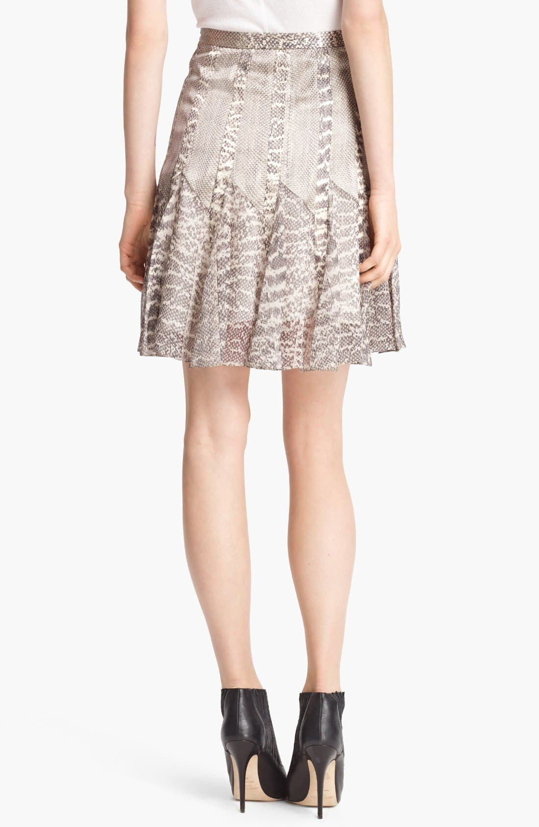 Alternate Image 2  - Jason Wu Snakeskin Print Satin & Chiffon Skirt