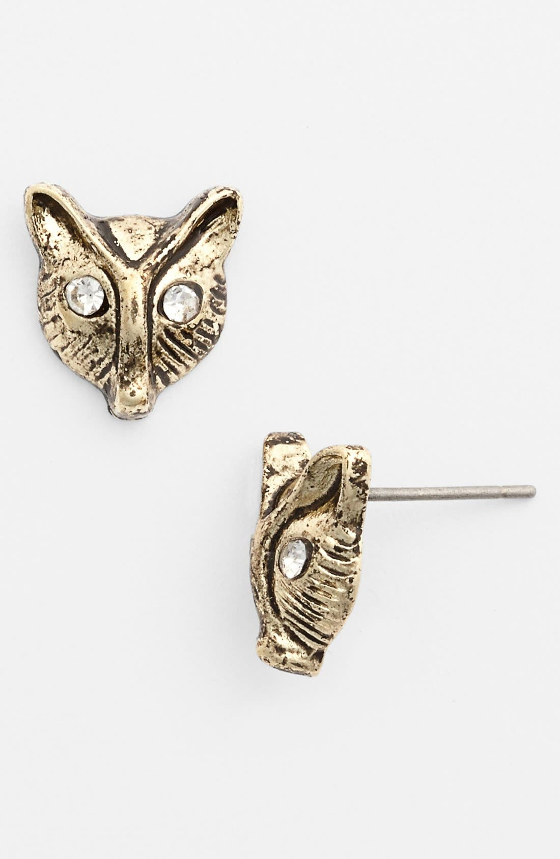 Main Image - Stephan & Co. Fox Stud Earrings (Juniors)