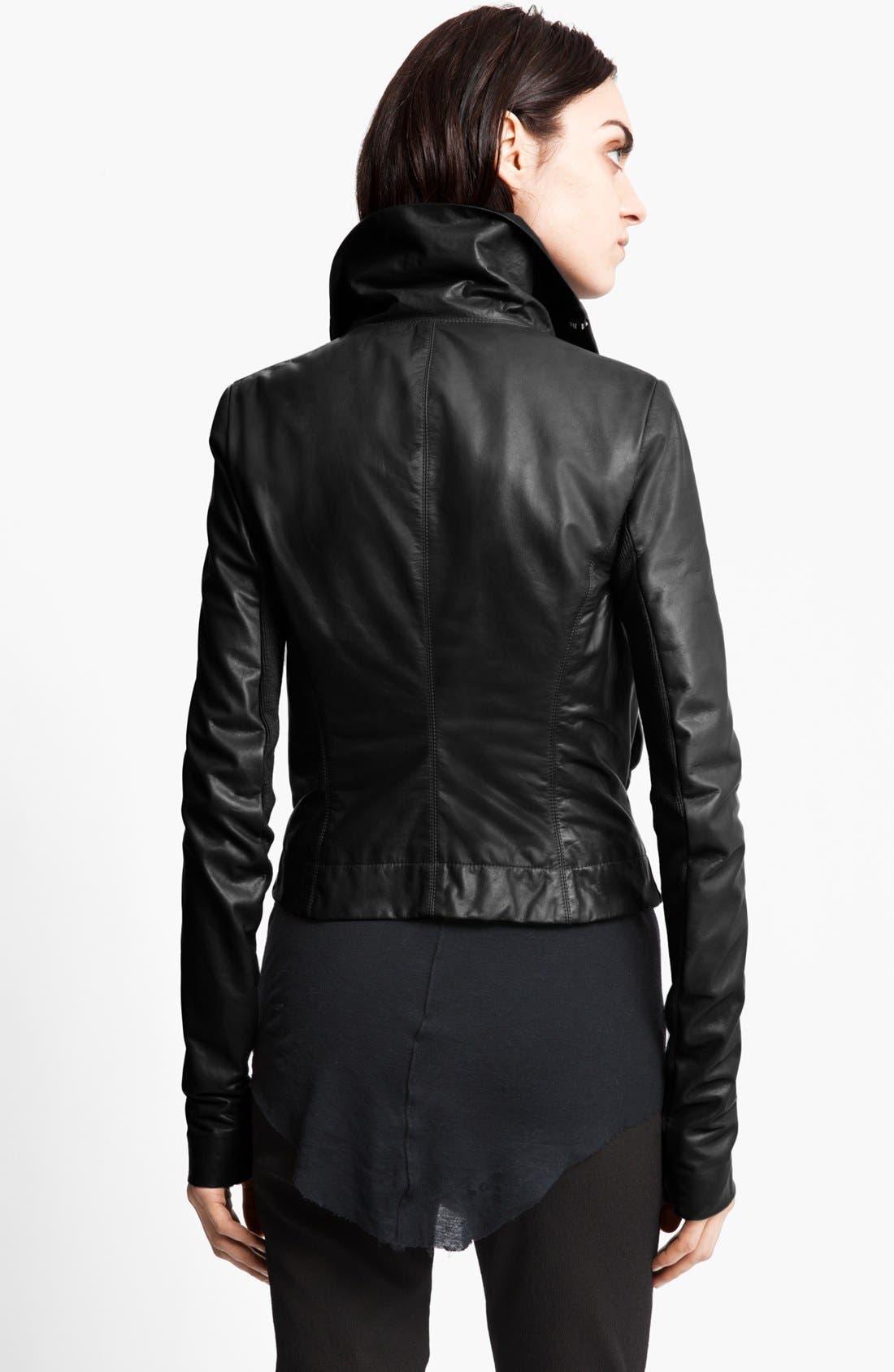 Alternate Image 3  - Rick Owens Leather Biker Jacket