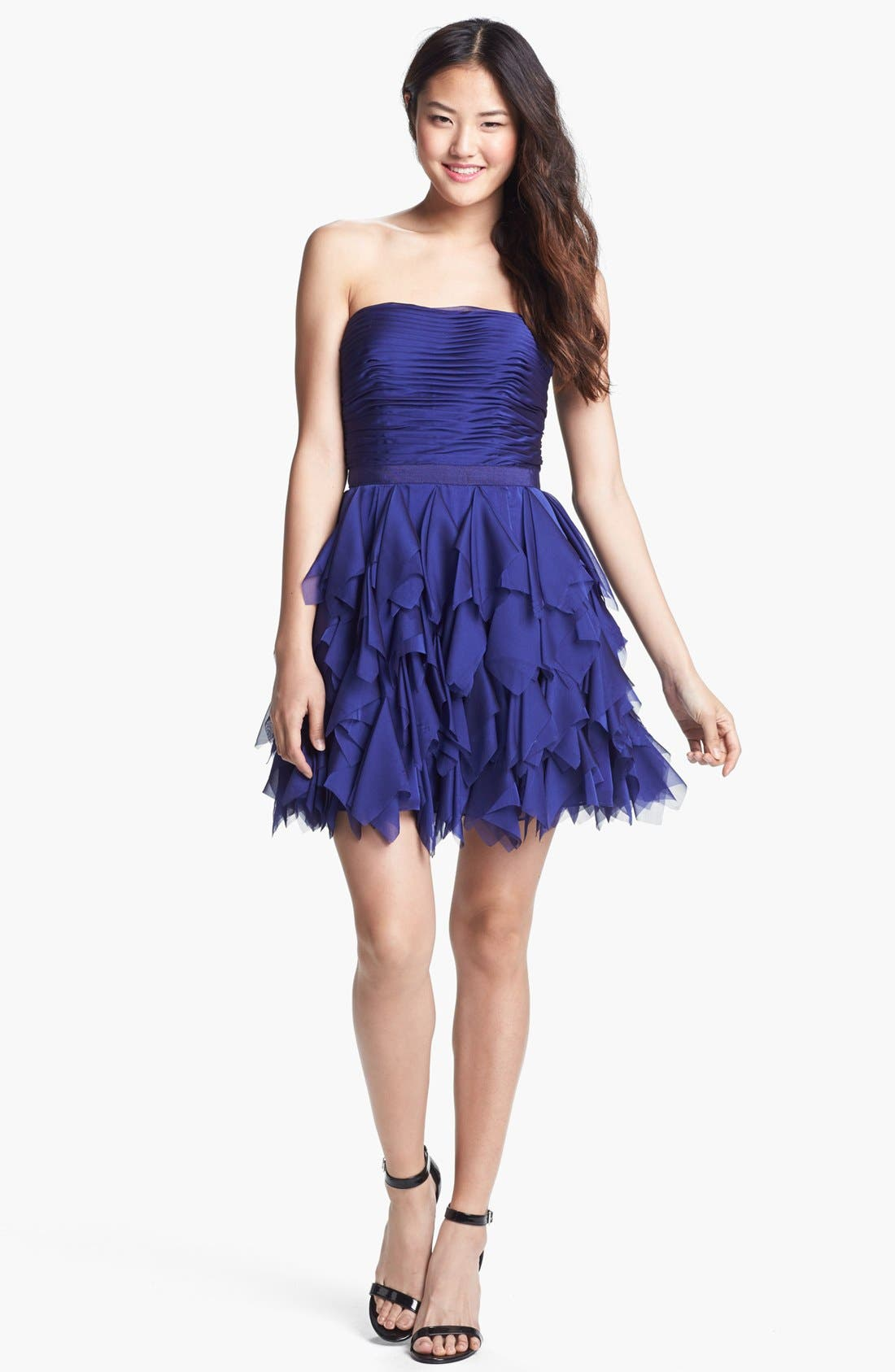 Alternate Image 2  - Adrianna Papell Ruffled Cocktail Dress
