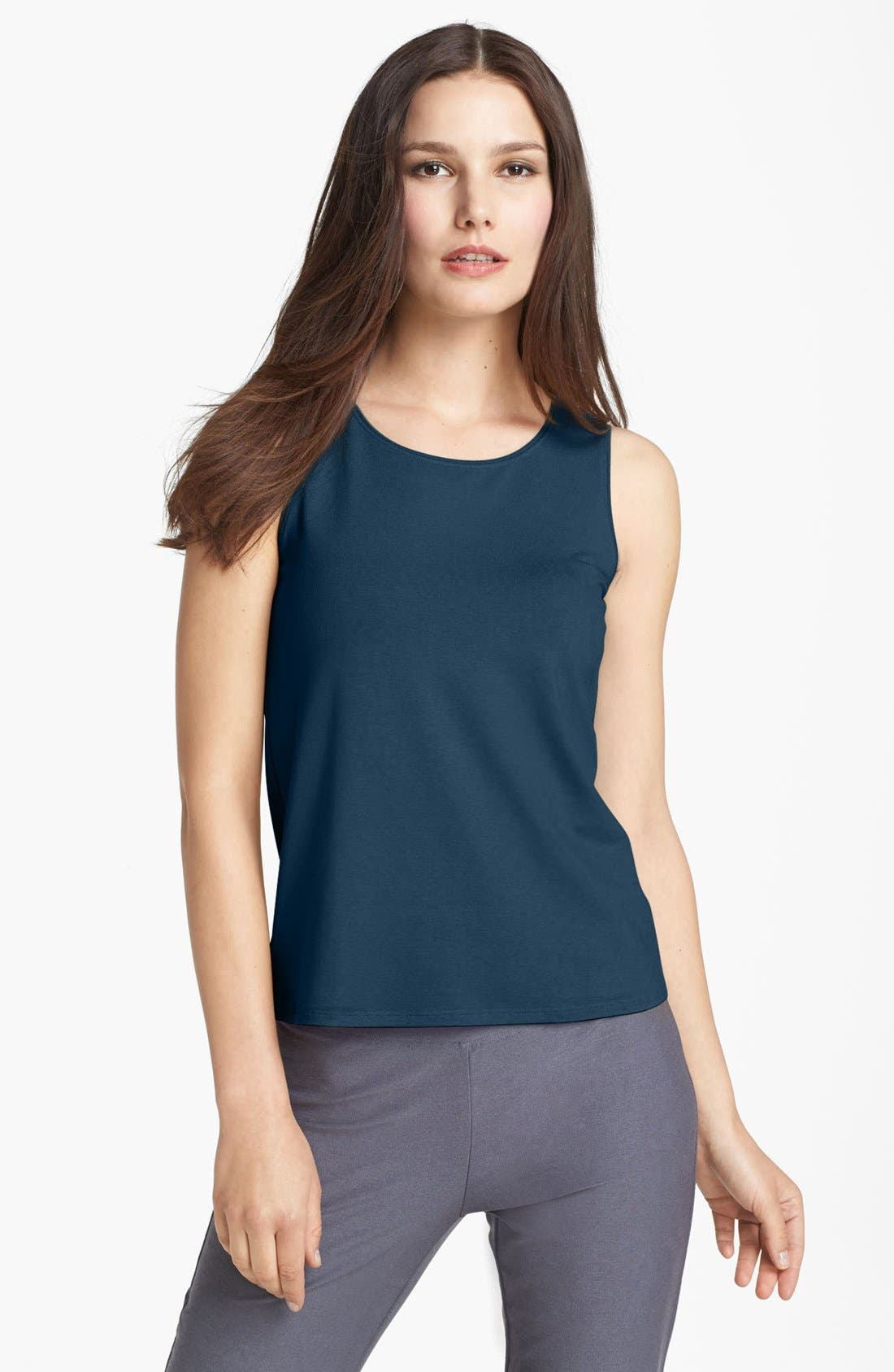 Alternate Image 1 Selected - Eileen Fisher U-Neck Jersey Shell