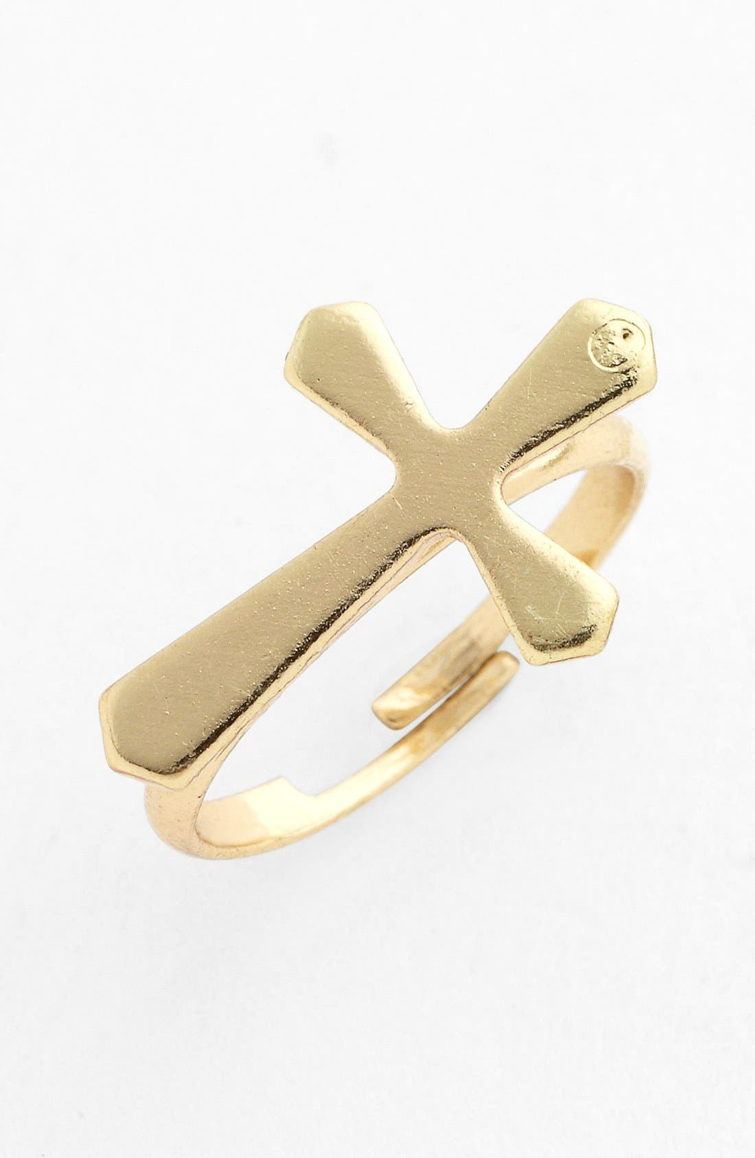 Alternate Image 1 Selected - Stephan & Co. Cross Adjustable Midi Ring (Juniors) (Online Only)