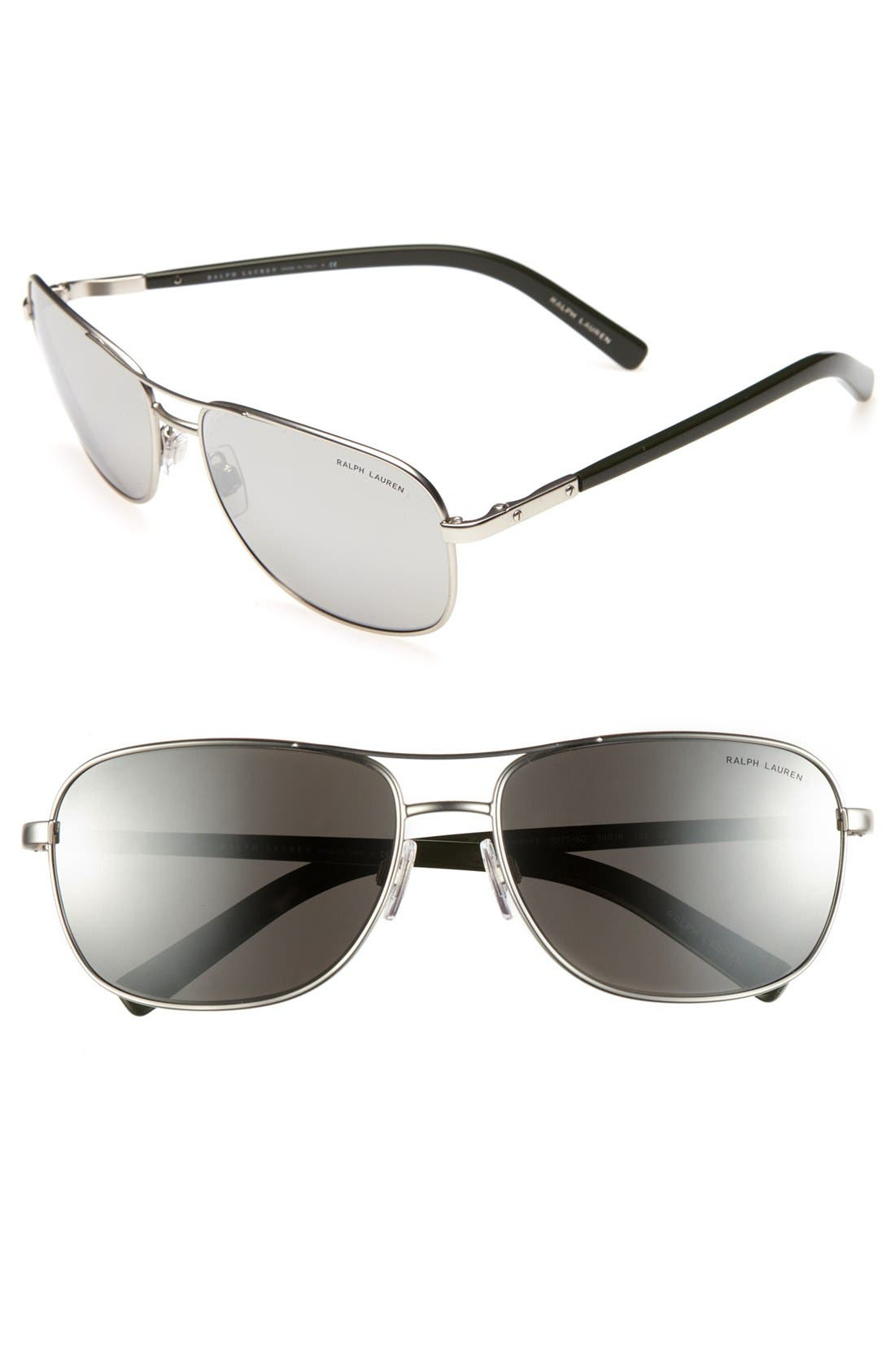 Main Image - Polo Ralph Lauren 59mm Keyhole Sunglasses