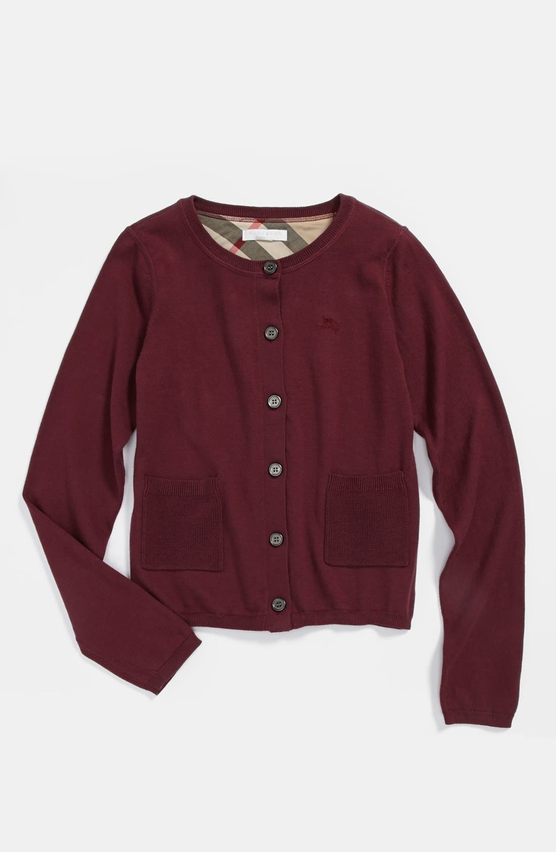 Main Image - Burberry 'Kiki' Cardigan (Toddler Girls, Little Girls & Big Girls)