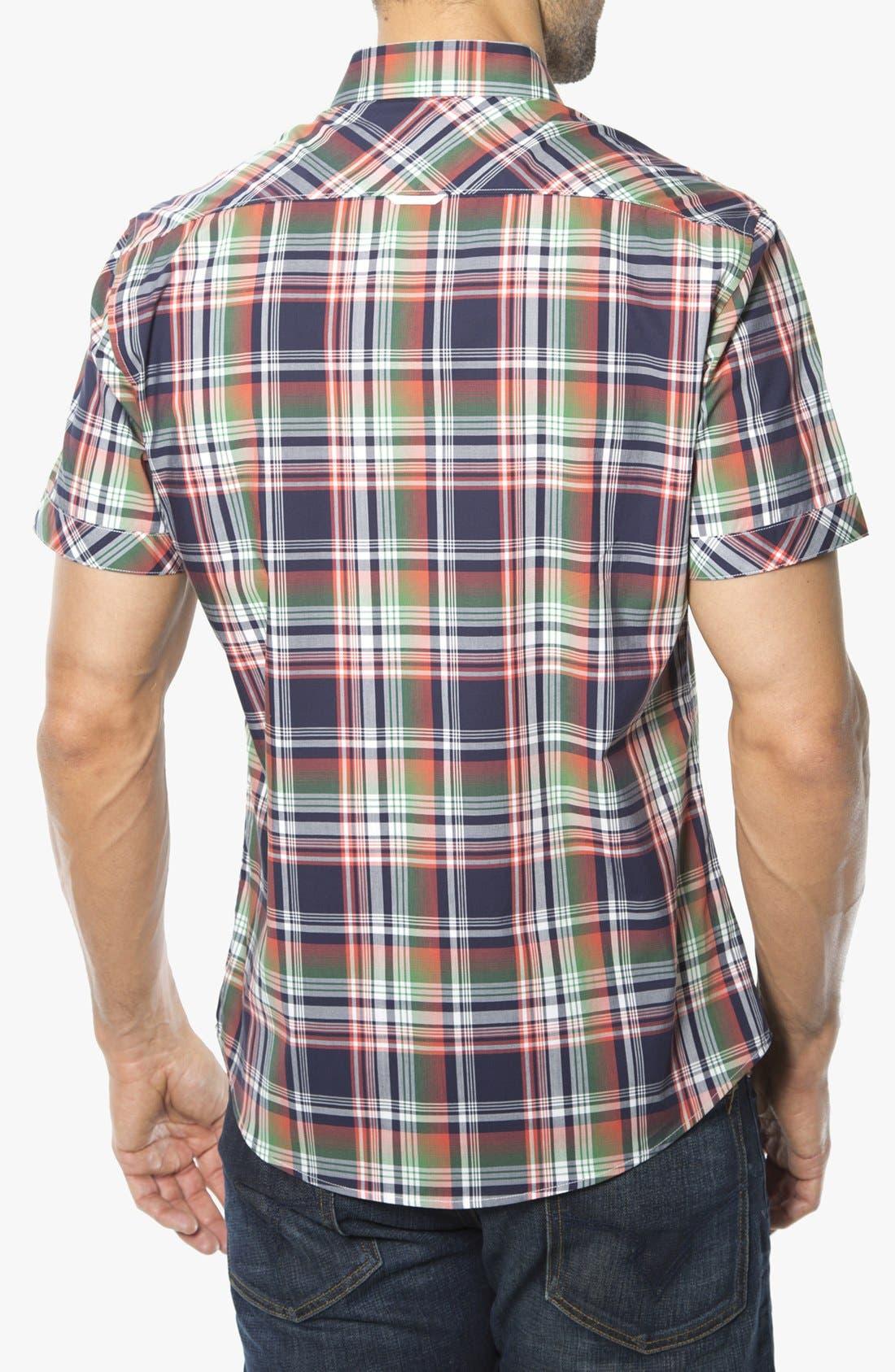 Alternate Image 2  - 7 Diamonds 'Friend of Friends' Woven Short Sleeve Shirt