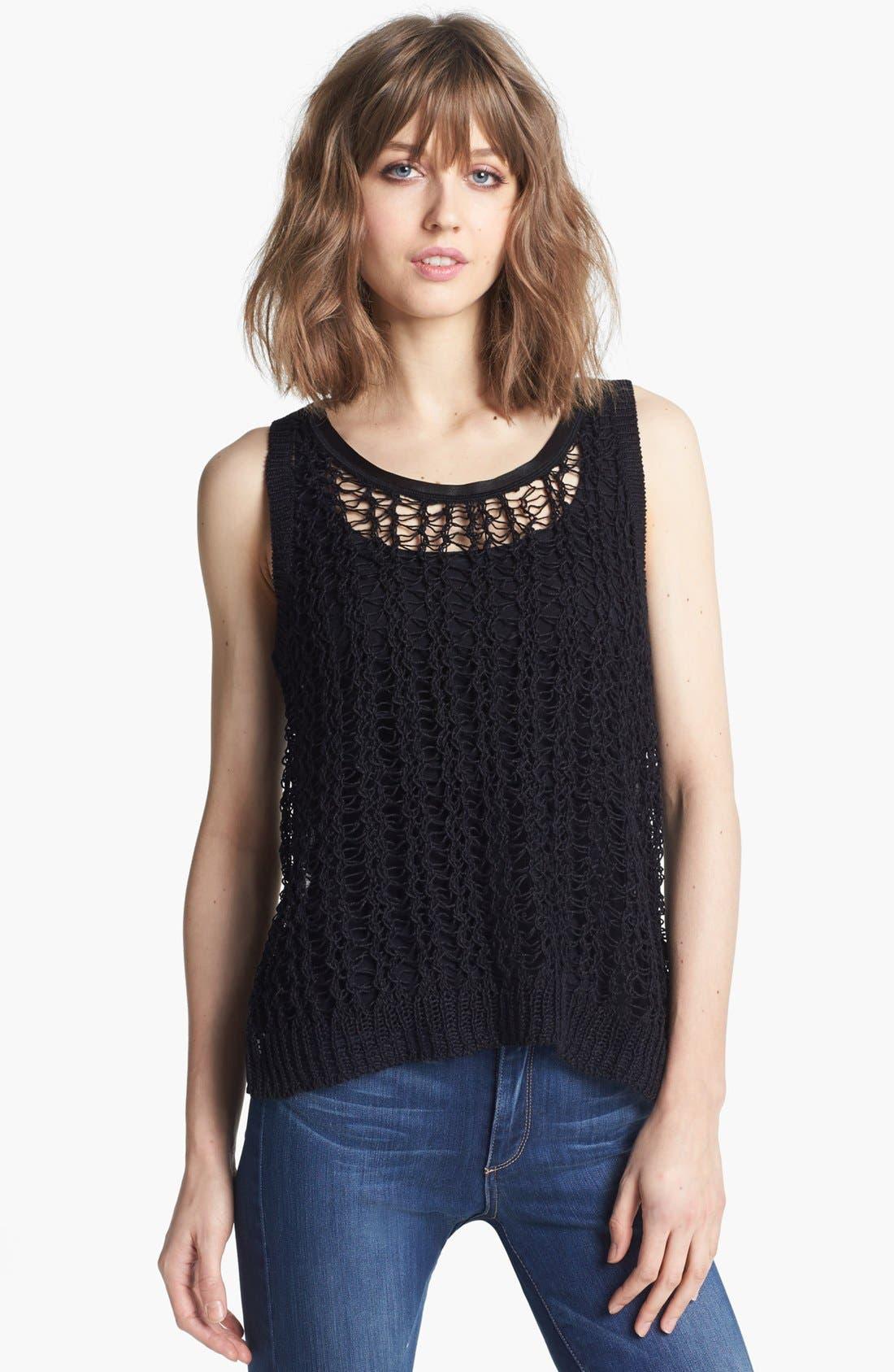 Main Image - Trouvé Split Back Sweater Vest