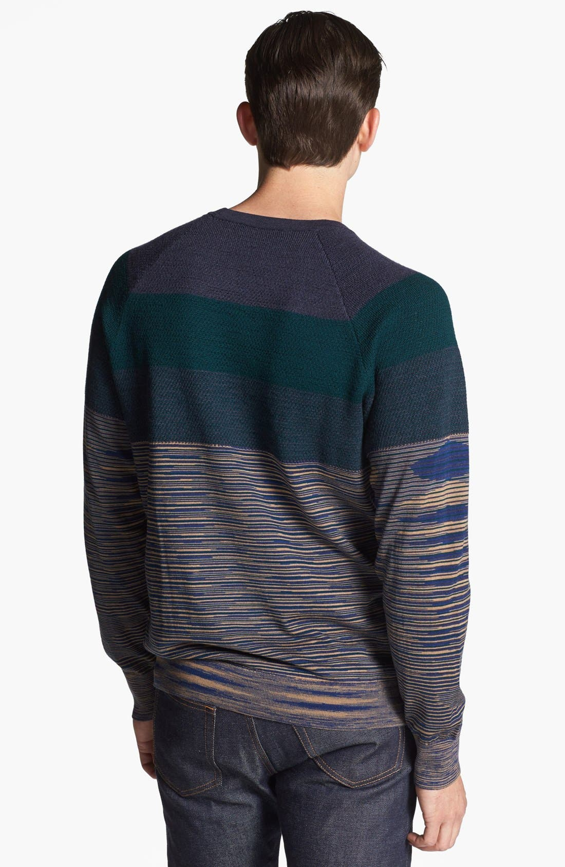 Alternate Image 2  - Missoni Chest Stripe Space Dyed Crewneck Sweater